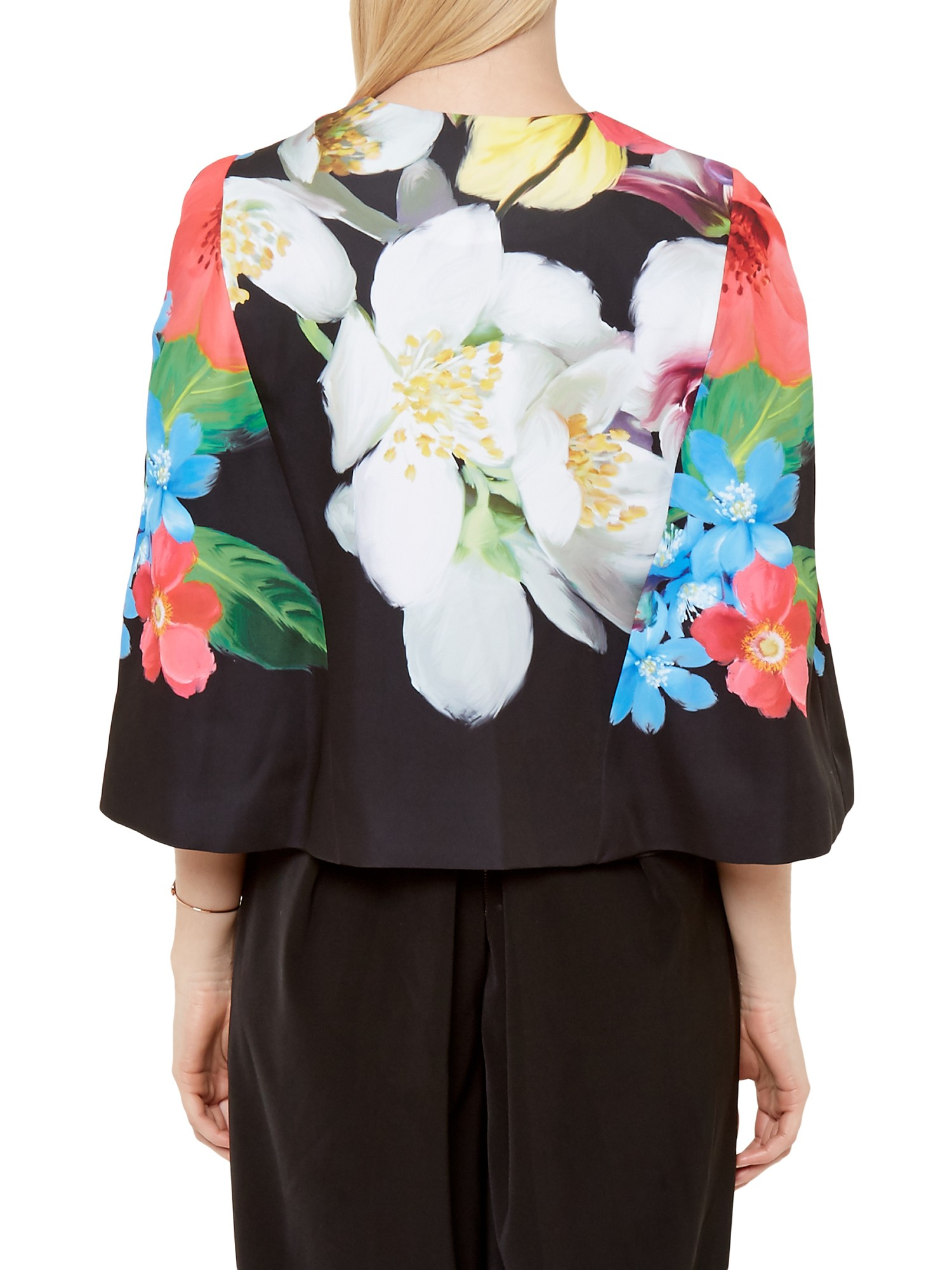 cb2929203db64 Ted Baker Gisel Forget Me Not Cape in Black - Lyst