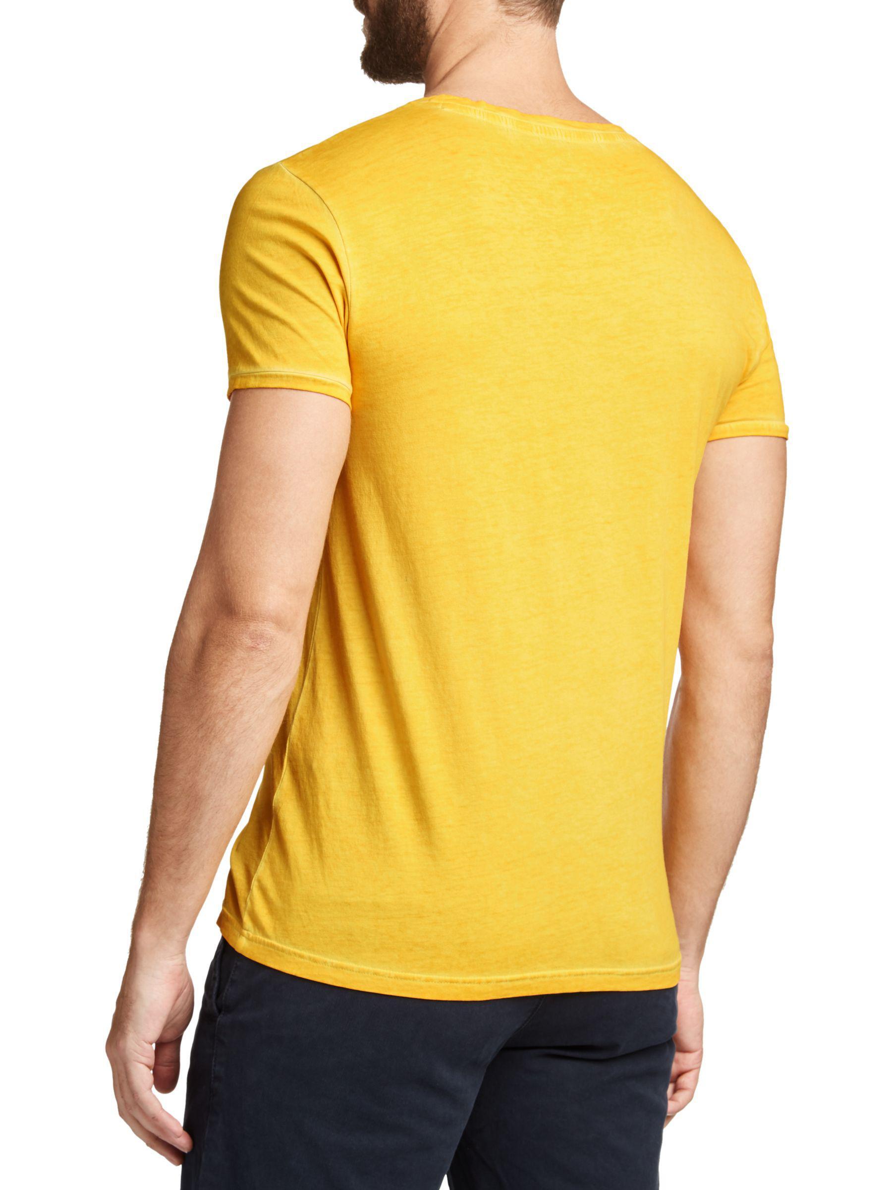 fcb841d1db BOSS Boss Troy Crew Neck T-shirt in Yellow for Men - Lyst