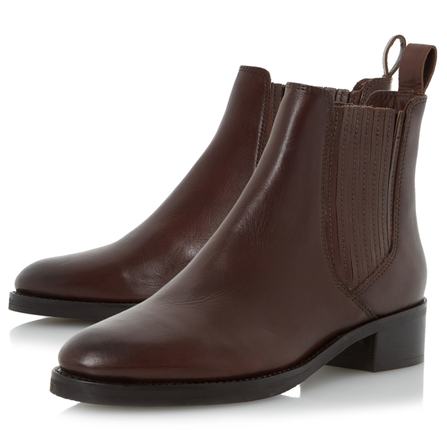 dune peppys ankle boots in brown lyst