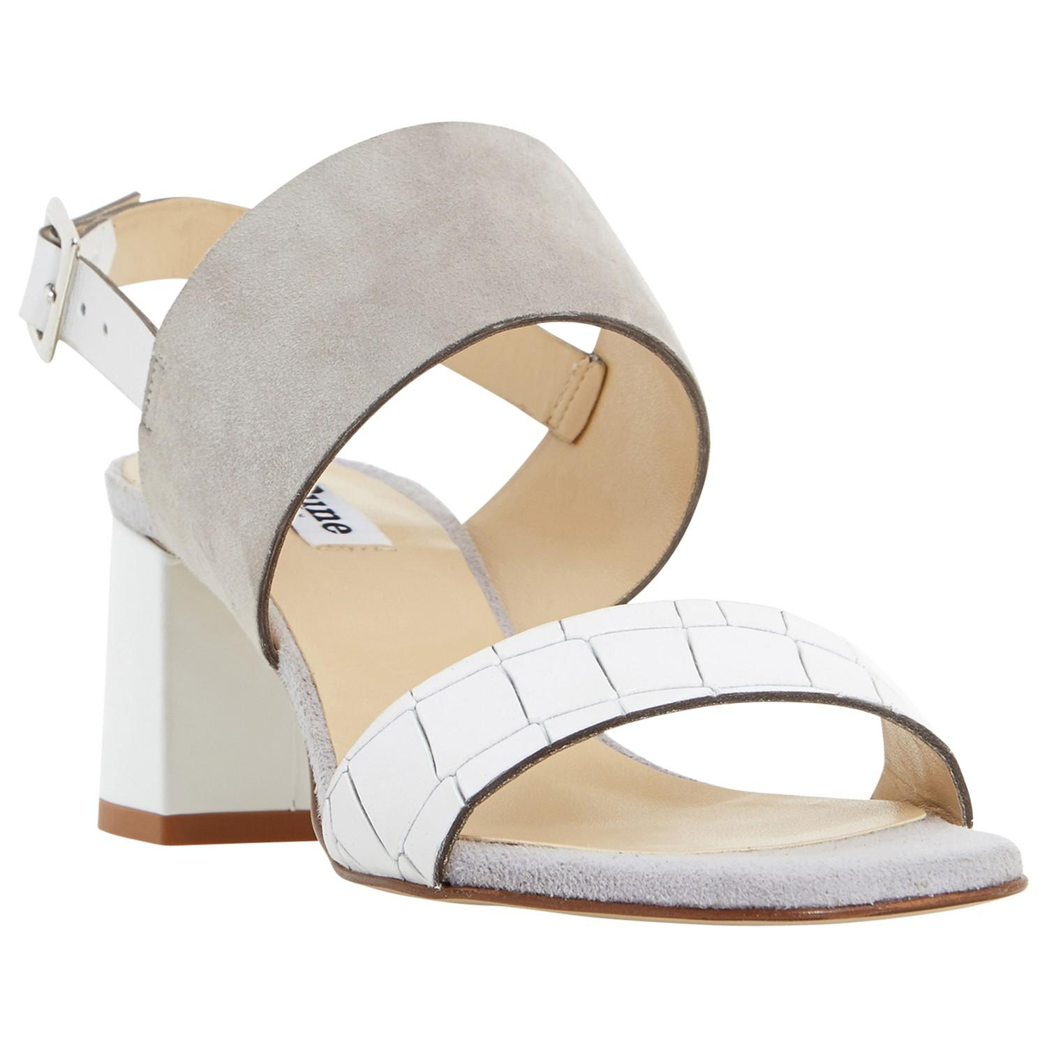 538d48ac2a72 Dune Jester Block Heeled Sandals in Gray - Lyst
