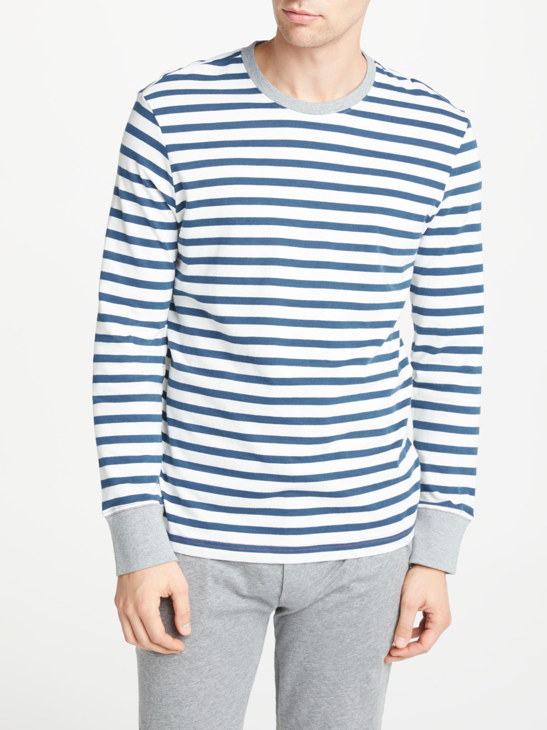 a63963c3ba8f John Lewis Breton Stripe Long Sleeve Pyjama Top in Blue for Men - Lyst