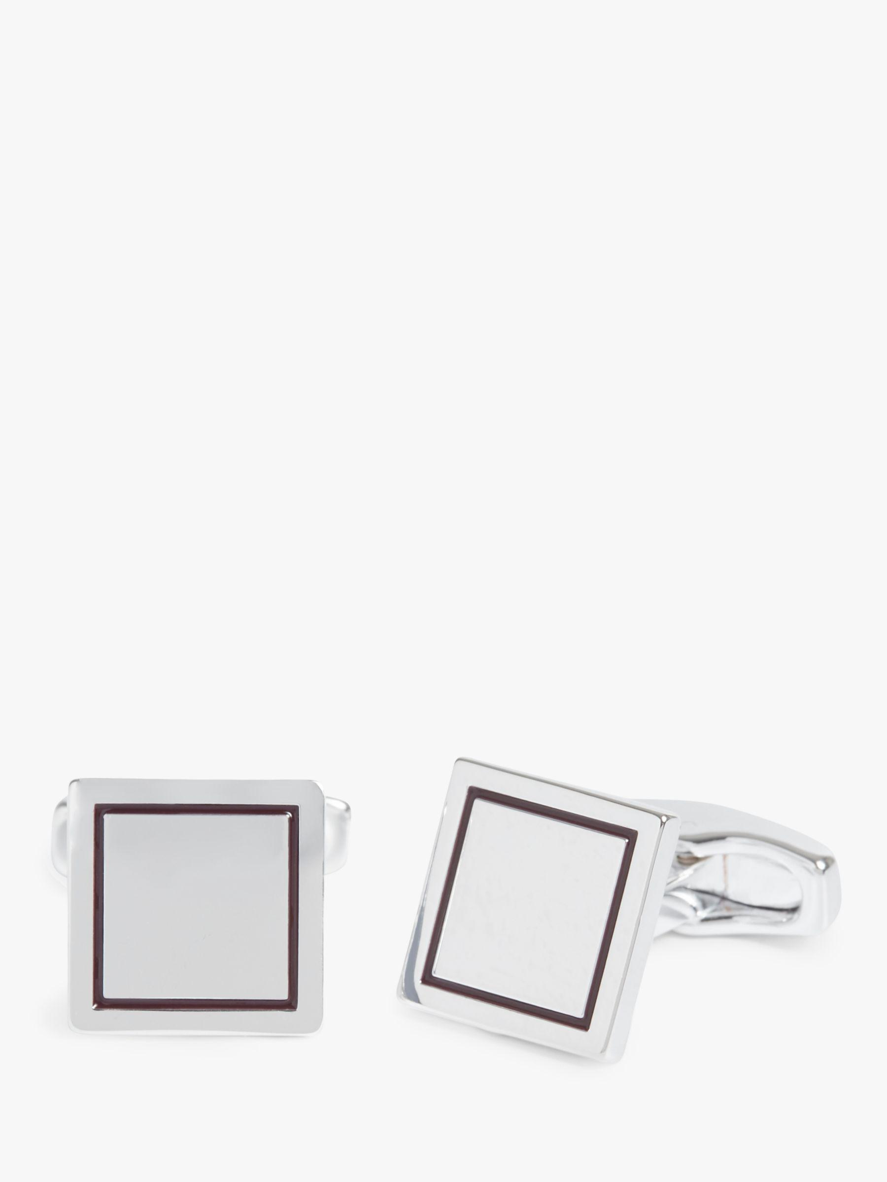 72780c6e2 Simon Carter. Men's Metallic For John Lewis & Partners Square Cufflinks