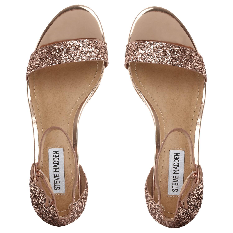 Steve Madden Irenee Two Part Glitter Block Sandals Lyst