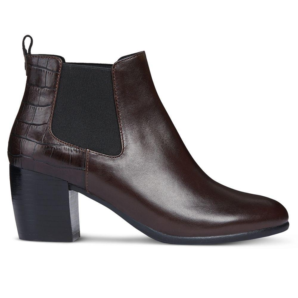 801b4b3ef0 Geox Women's Lucinda Contrast Block Heel Ankle Boots in Brown - Lyst