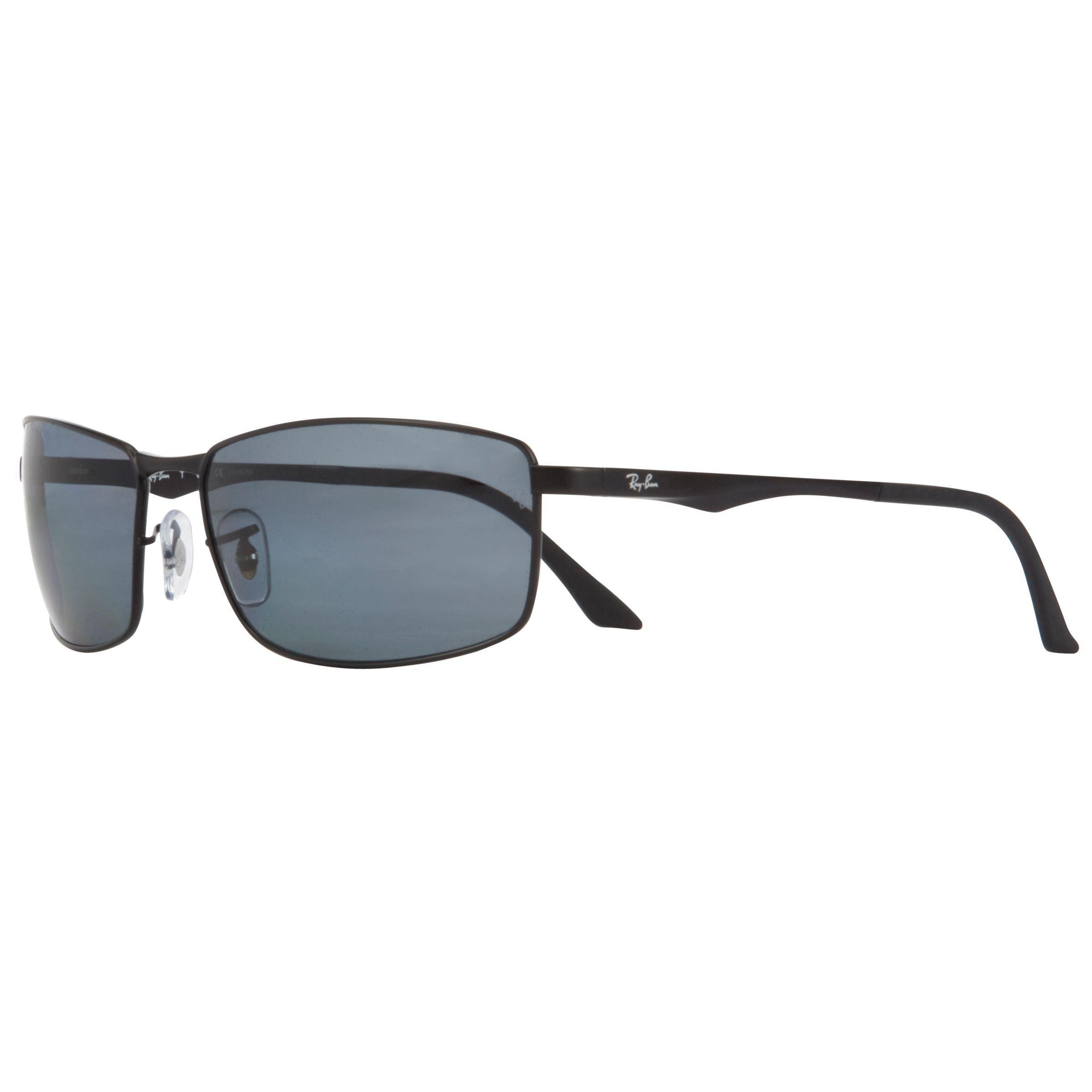 7826df6206 Ray-Ban Rb3498 Rectangular Polarised Sunglasses in Black for Men - Lyst