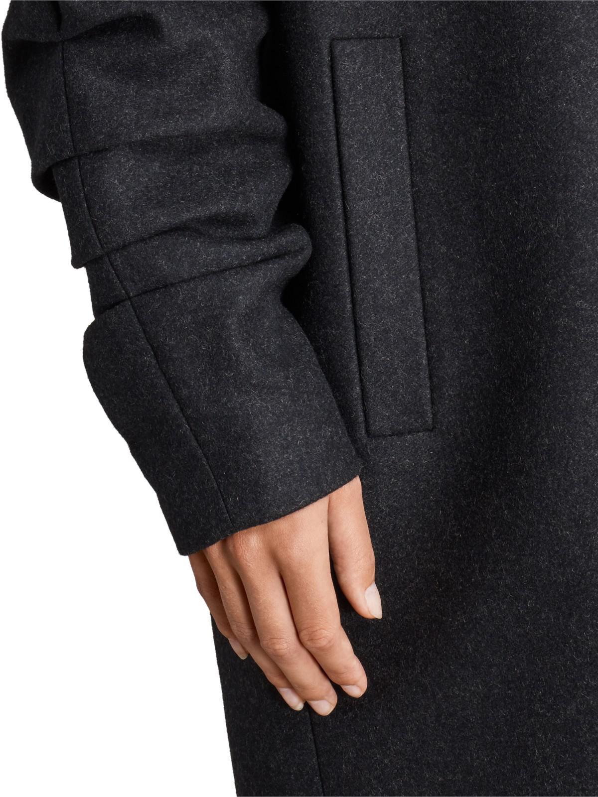 Allsaints Kenzie Ruche Coat In Gray Lyst