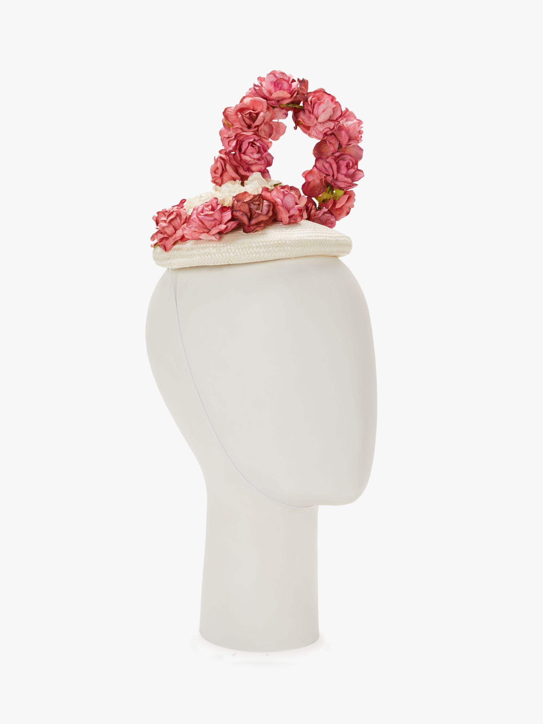 32d963d50c47e Bundle Maclaren Millinery Suzy Flower Wall Pillbox Fascinator in Pink - Lyst