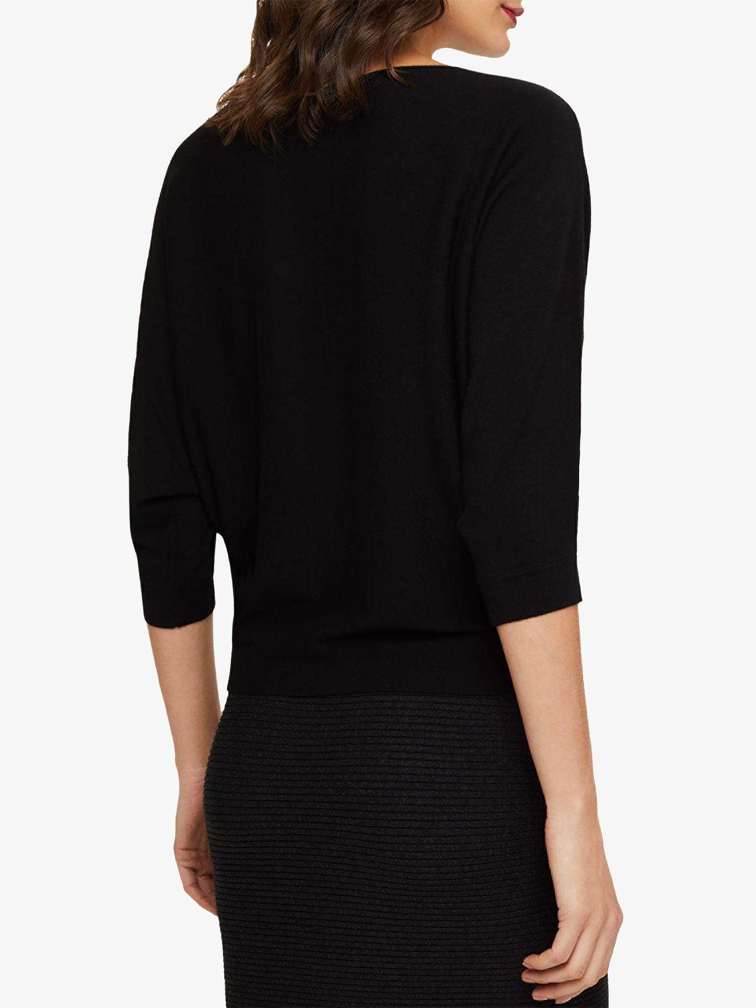 fe84fdc1b3a Phase Eight Becca Batwing Knit Jumper in Black - Lyst