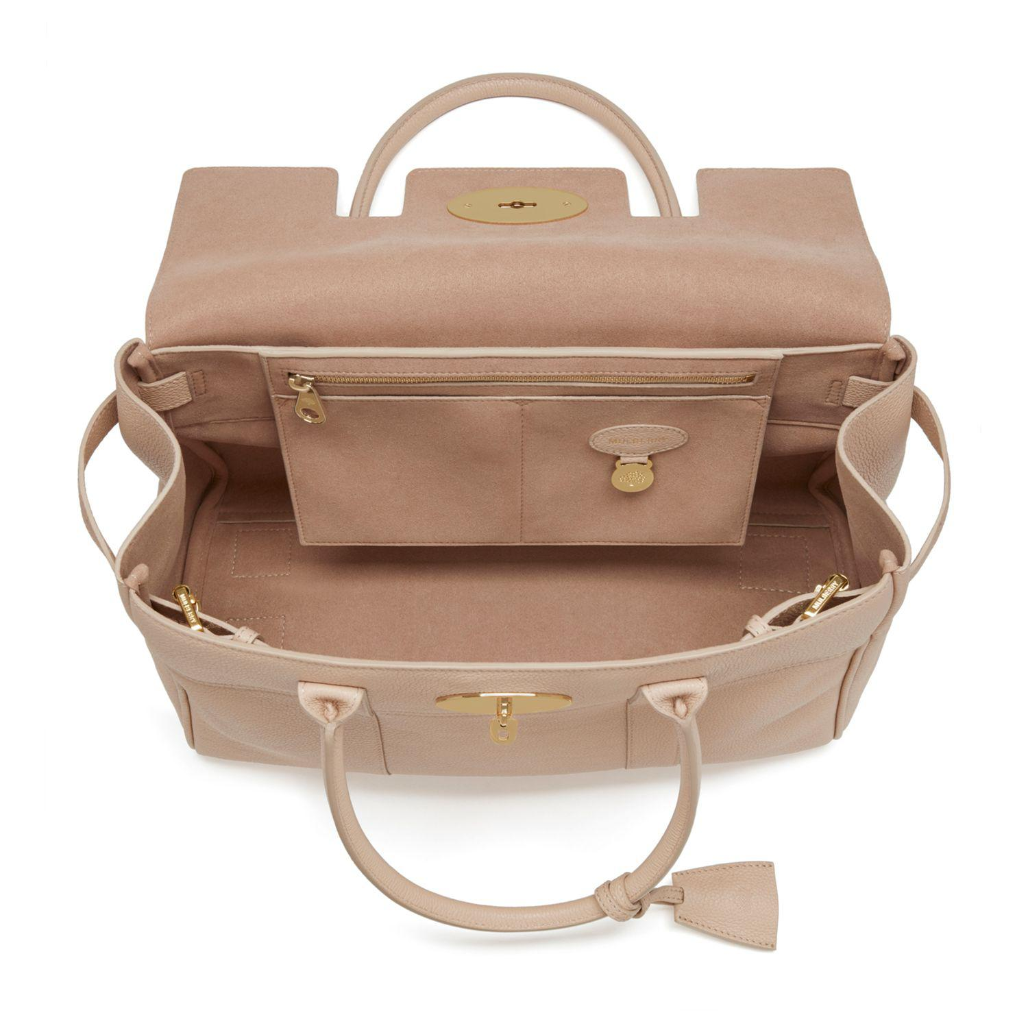 0708f8a363a8 John Lewis Mulberry Bayswater Small Classic Grain Leather Grab Bag ...