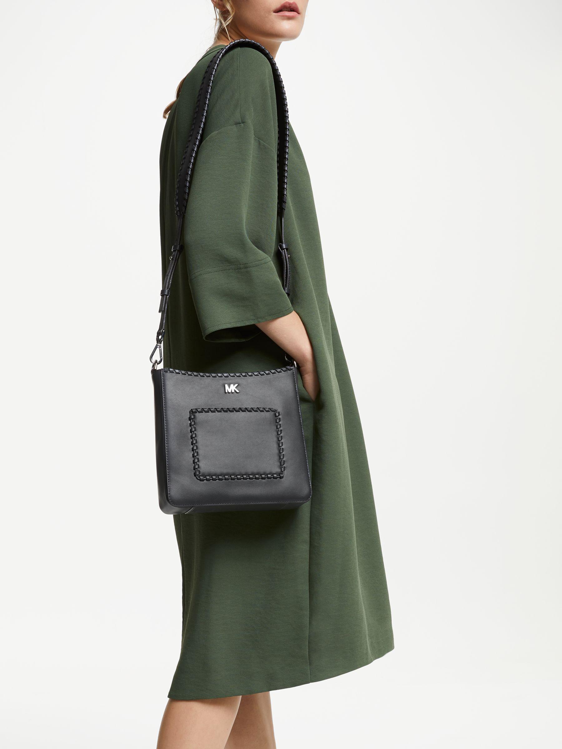 e0179a5e098292 Michael Kors Michael Gloria Pocket Swing Cross Body Bag in Gray - Lyst