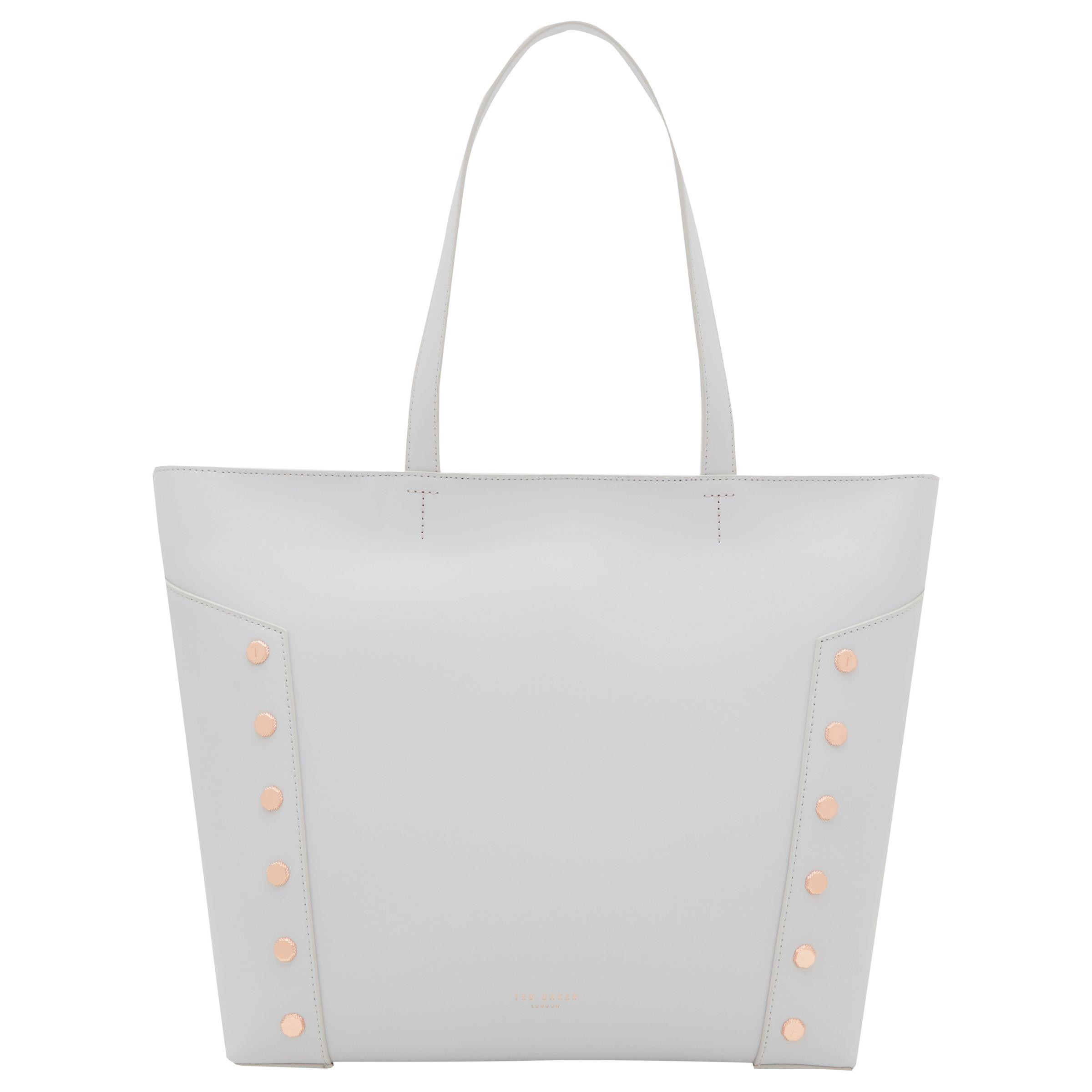 4c707d4d5 Ted Baker Tamiko Stud Edge Leather Shopper Bag in Gray - Lyst