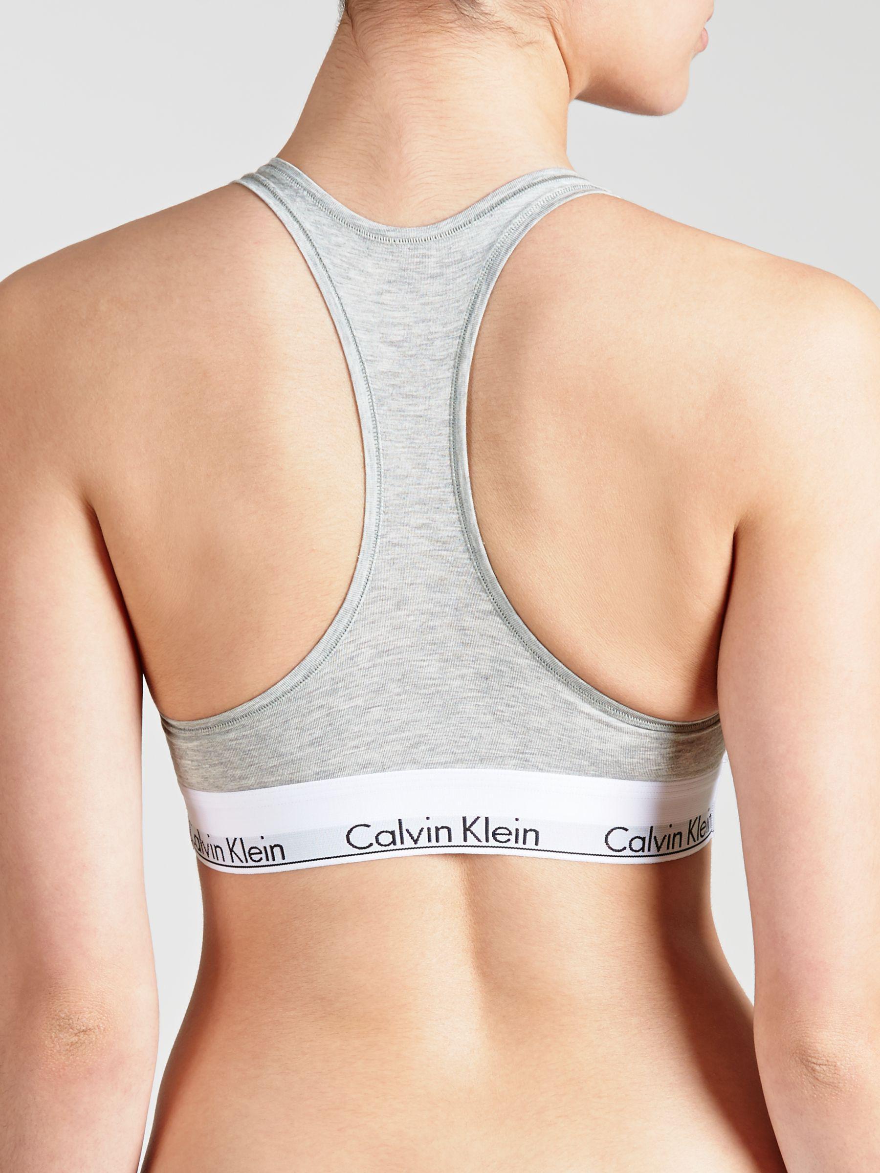ec75273314 Calvin Klein Underwear Modern Cotton Bralette in Gray - Lyst