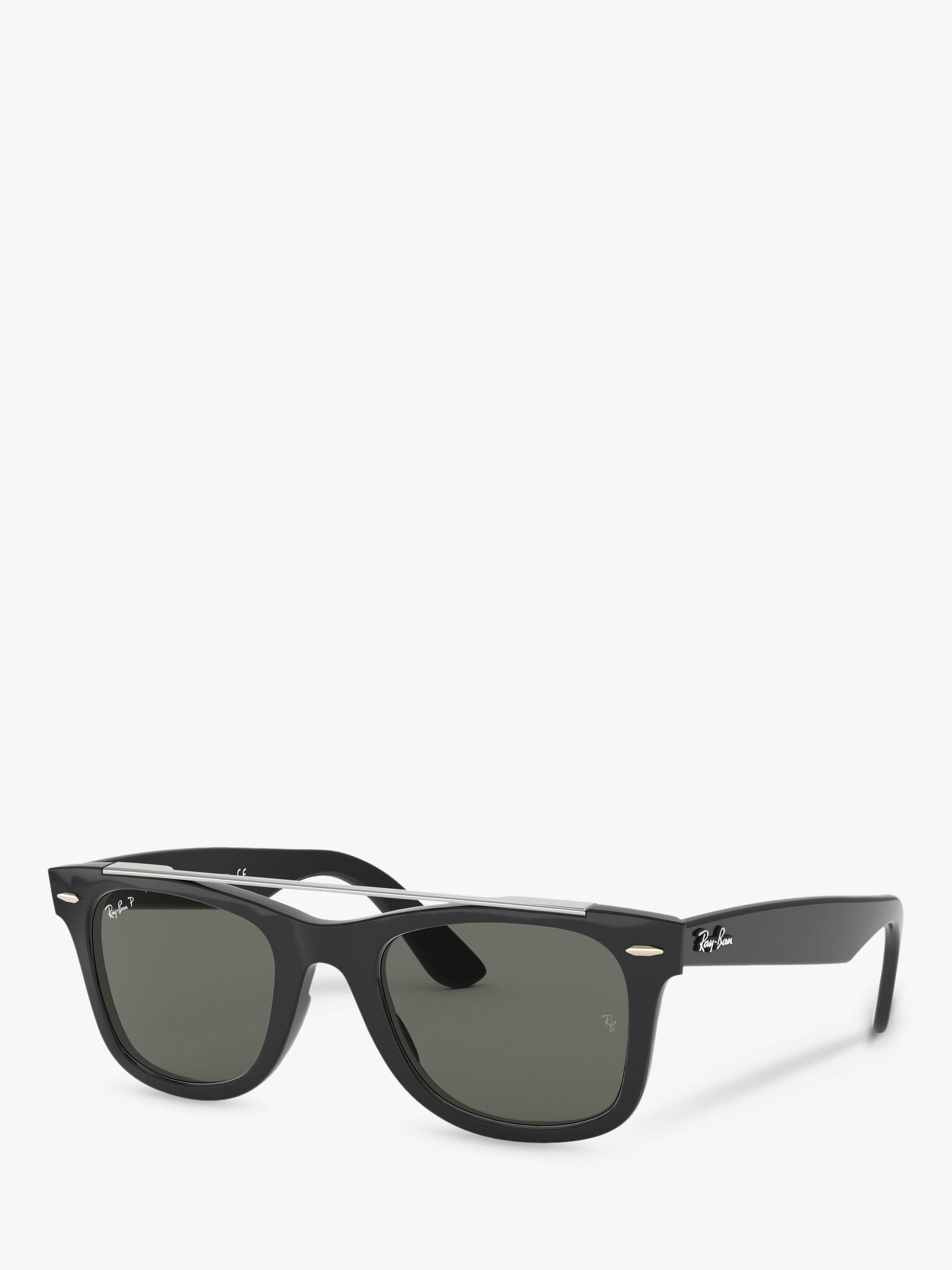 868068b5bd1 Ray-Ban. Black Rb4540 Women s Polarised Wayfarer Double Bridge Sunglasses