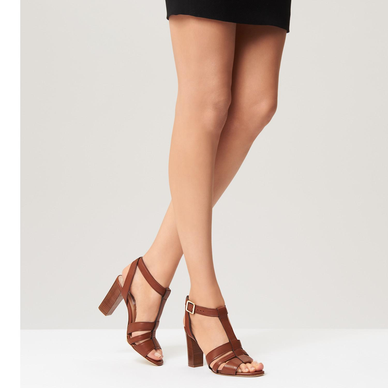 e9fa1f5ab9e2 L.K.Bennett L.k. Bennett Selena Block Heeled Sandals in Brown - Lyst