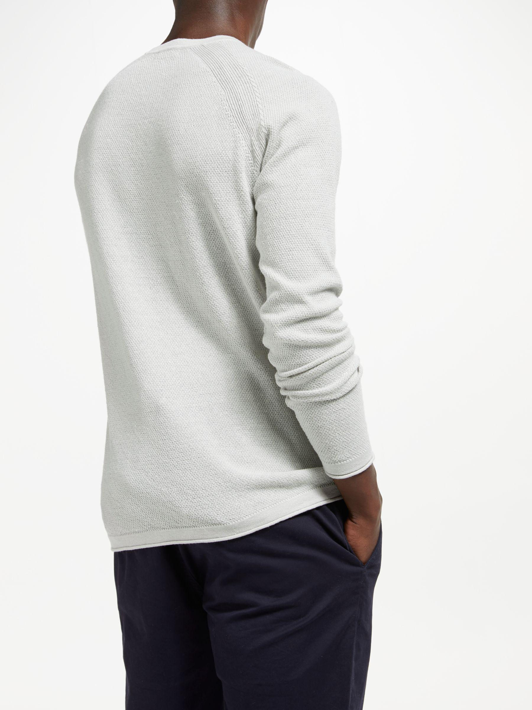db0205202b J.Lindeberg Roller Linen Two Tone Sweater in Gray for Men - Lyst