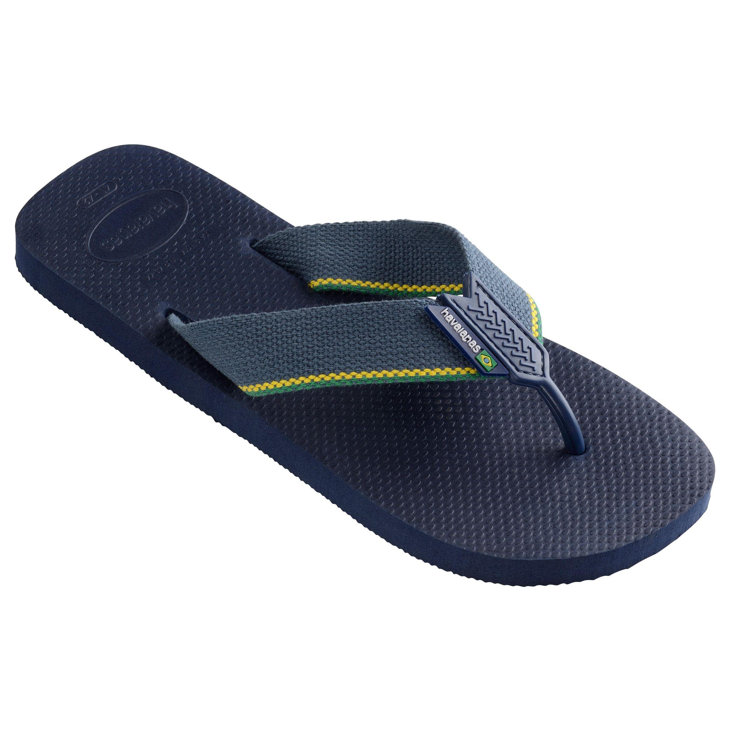 b015cf0c7bf9 Havaianas - Blue Urban Brasil Logo Flip Flops for Men - Lyst. View  fullscreen