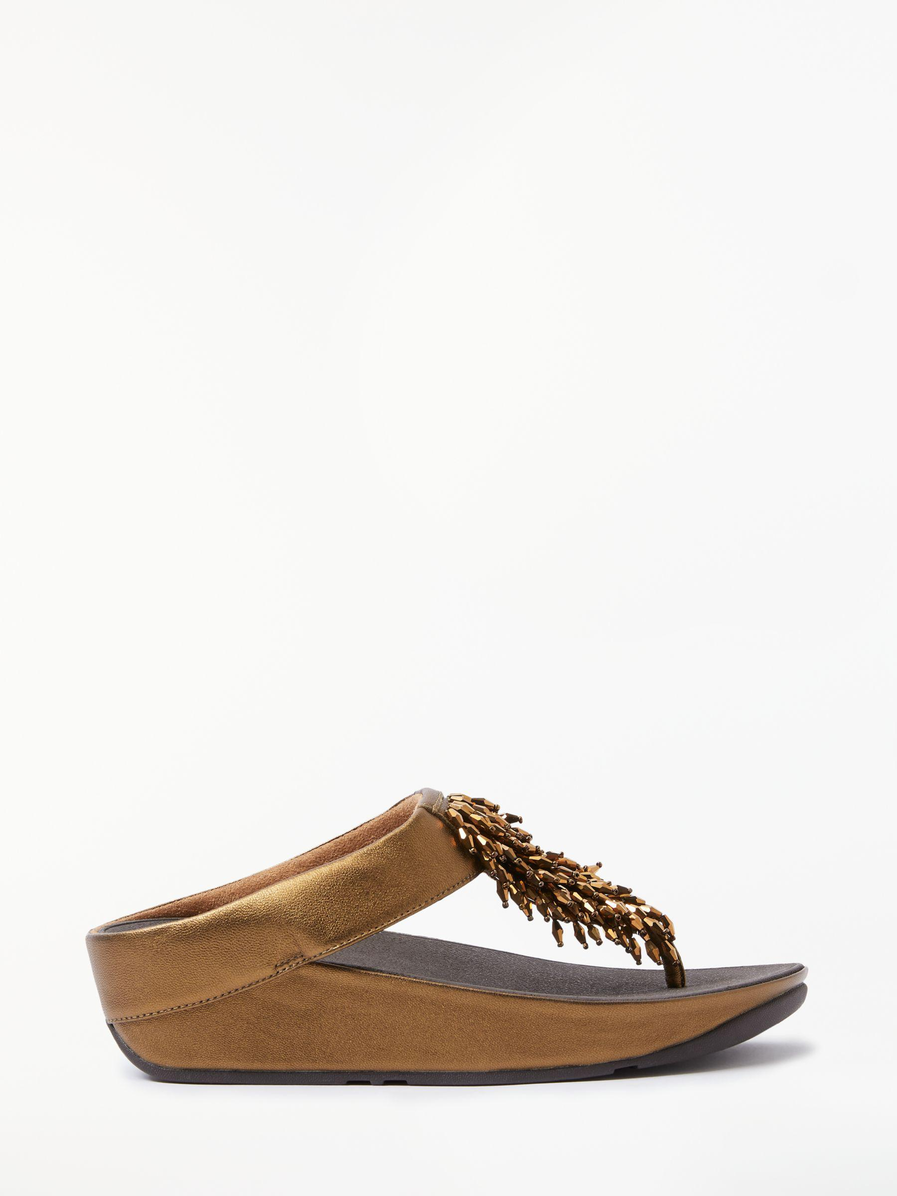 6e9d25696 Fitflop - Brown Rumba Embellished Toe Post Sandals - Lyst. View fullscreen