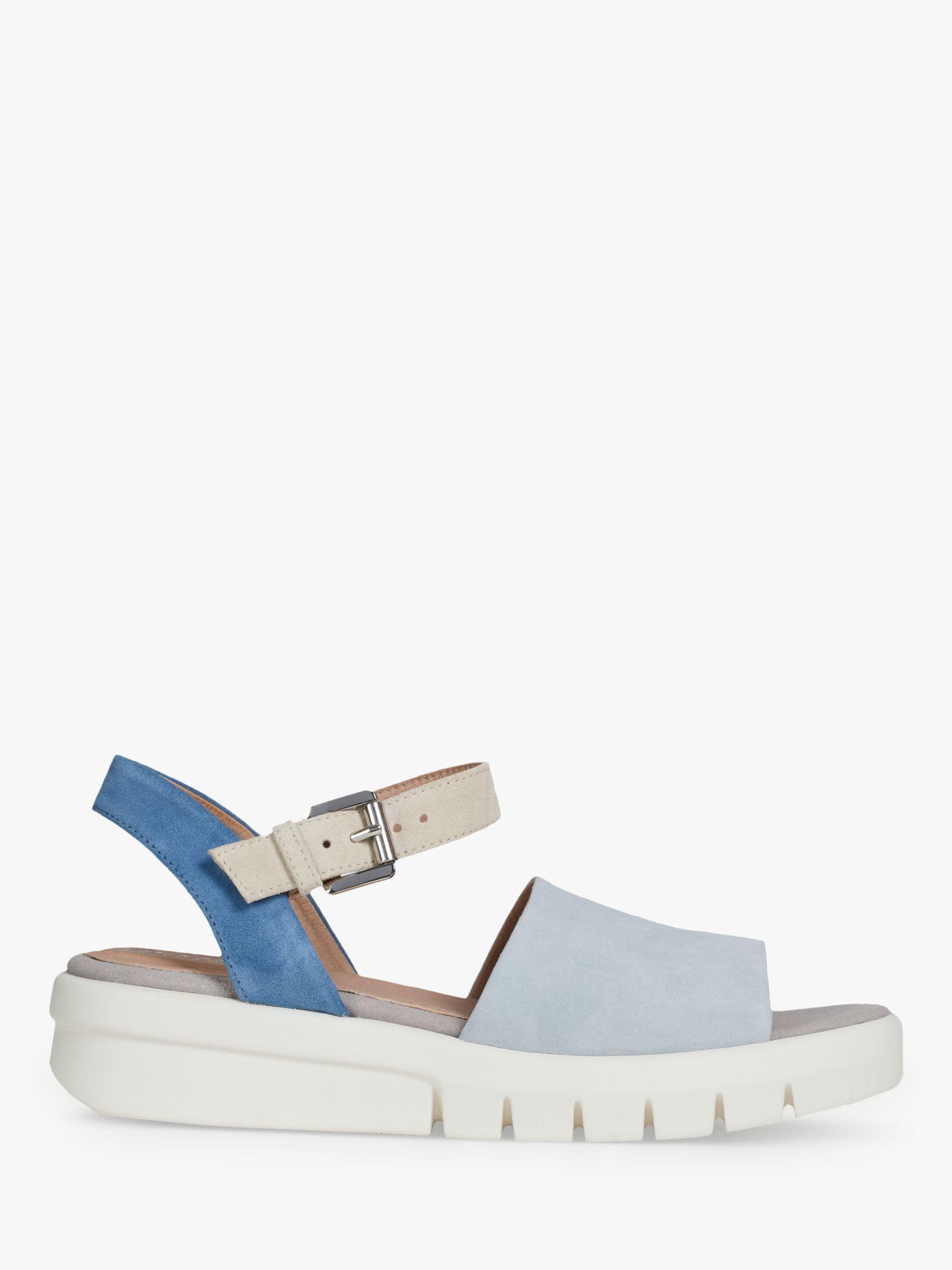 12738bd0979 Geox Women's Wimbley Flatform Sandals in Blue - Lyst