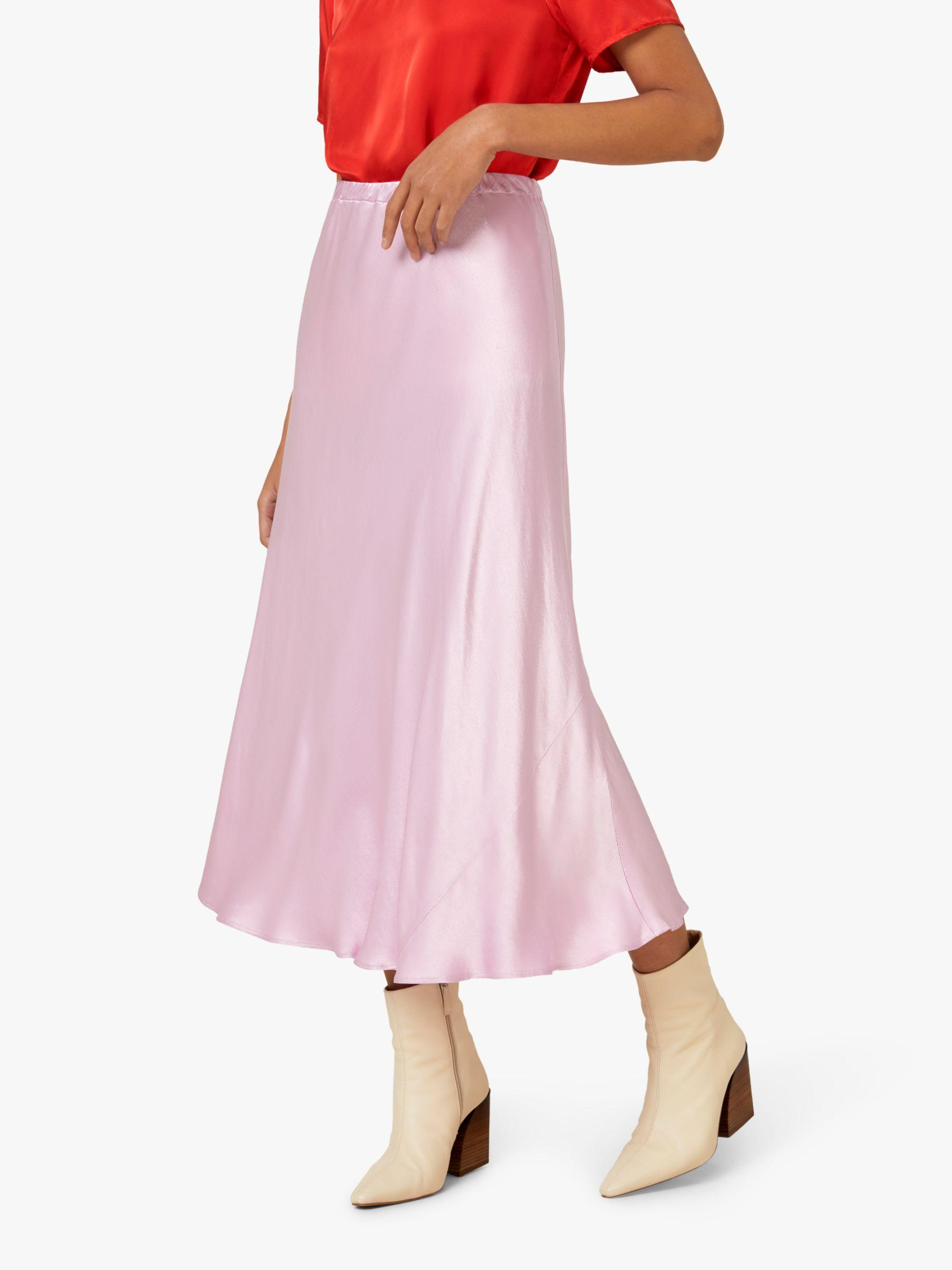 df6f4c015c Finery London Alberte Satin Skirt in Pink - Lyst