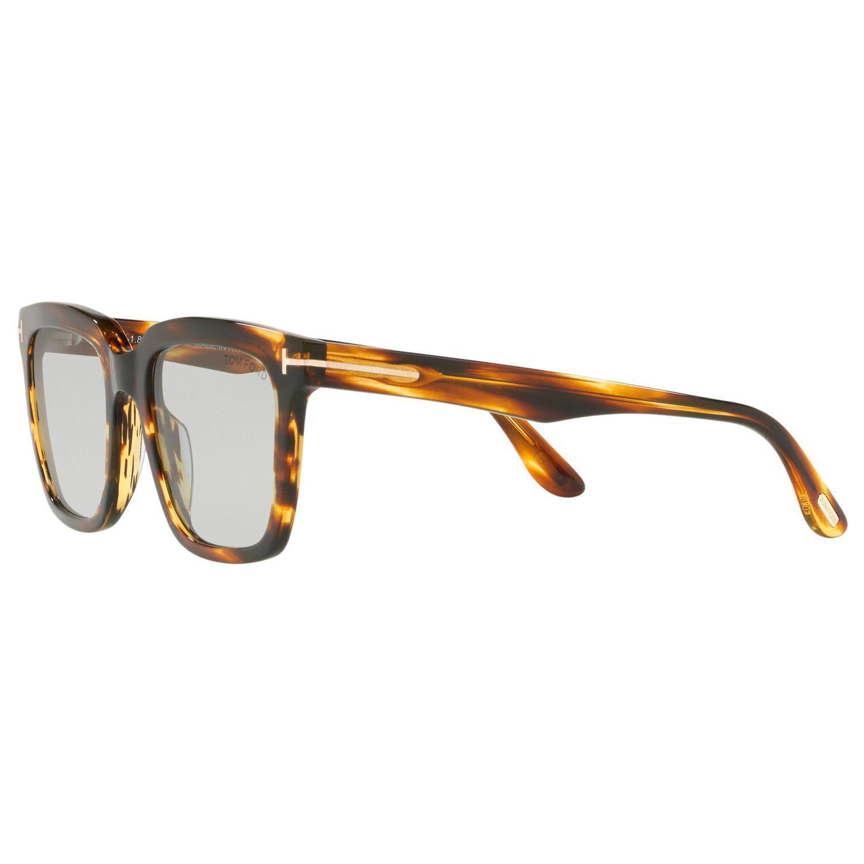 6df84b78efe Tom Ford - Brown Ft0646 Men s Marco Rectangular Sunglasses for Men - Lyst.  View fullscreen