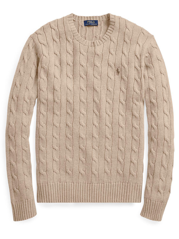 750b48c09e4aa John Lewis Polo Ralph Lauren Cable-knit Cotton Jumper for Men - Lyst