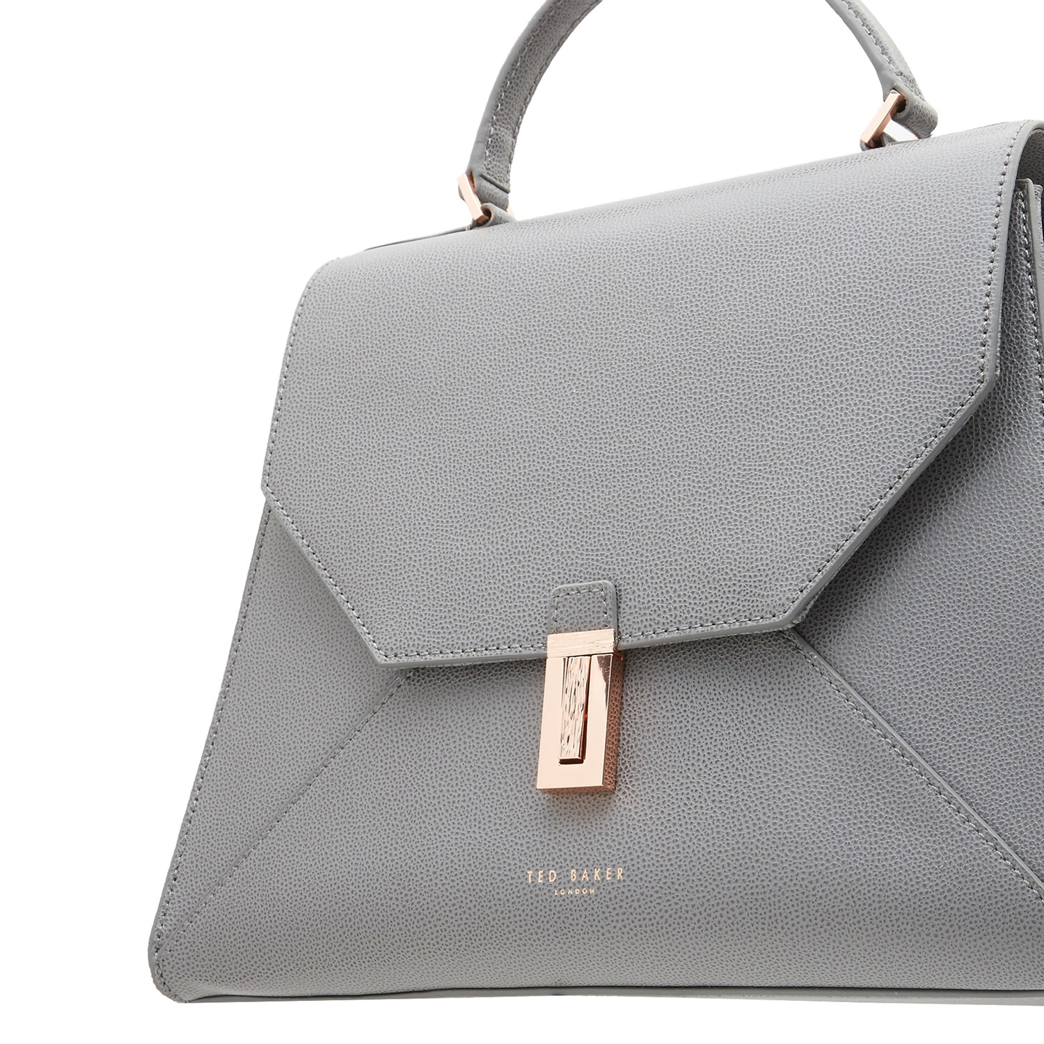 c43012d1e4b Ted Baker Ellice Leather Top Handle Grab Bag in Gray - Lyst
