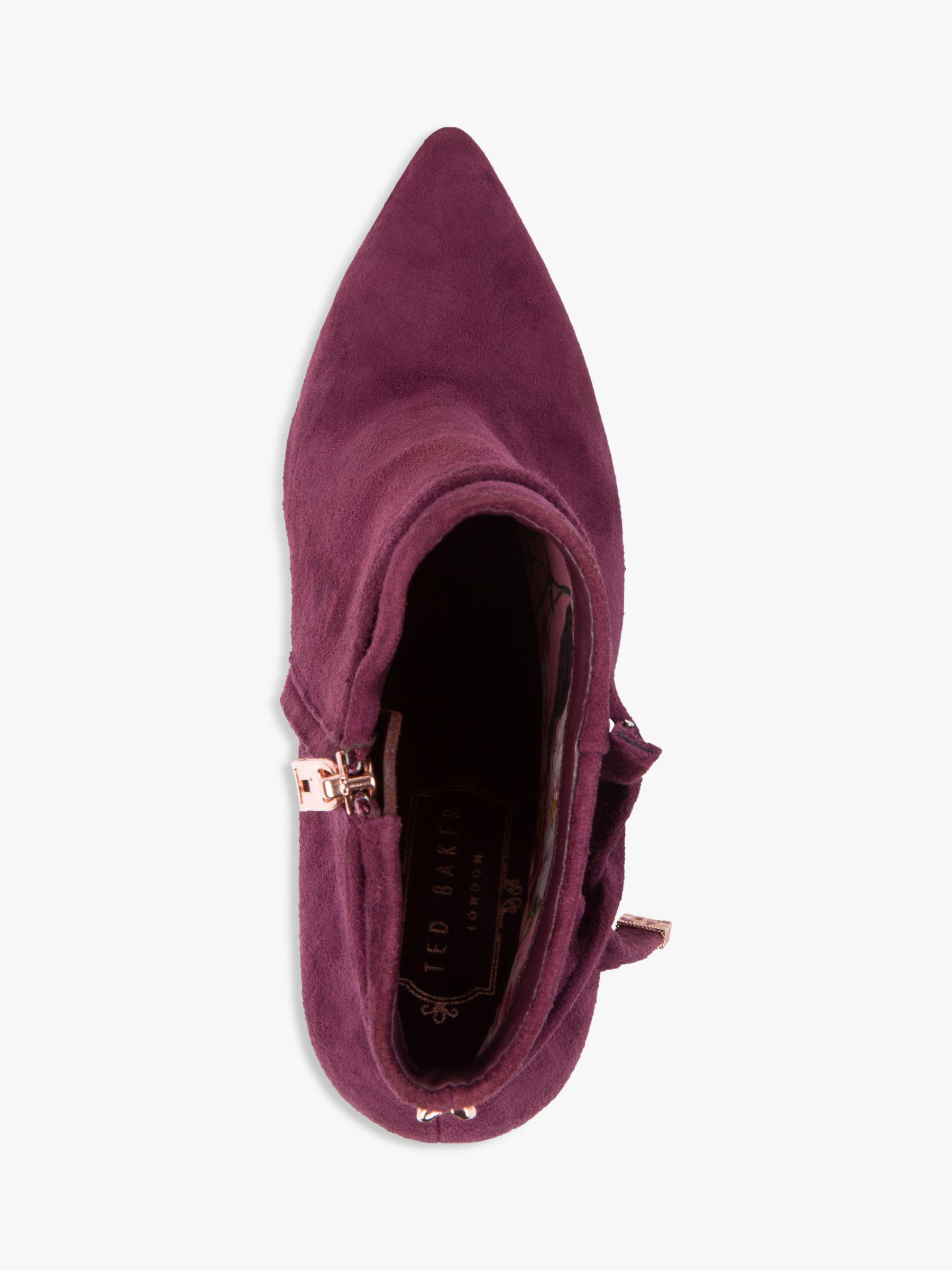 d9e8cb3e1 Ted Baker Qatena Tie Block Heel Ankle Boots in Purple - Lyst