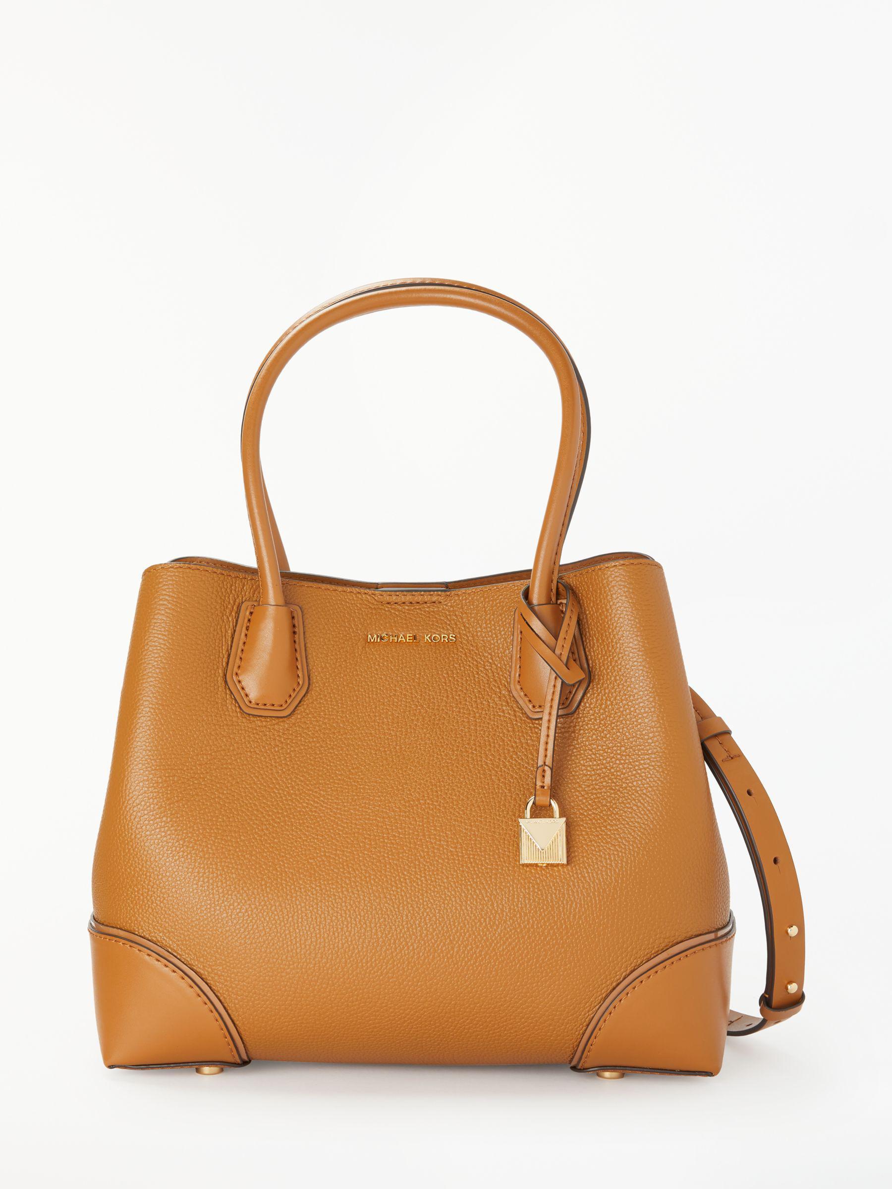 fafe5fd5b5094e Michael Kors - Brown Michael Mercer Gallery Medium Leather Tote Bag - Lyst.  View fullscreen