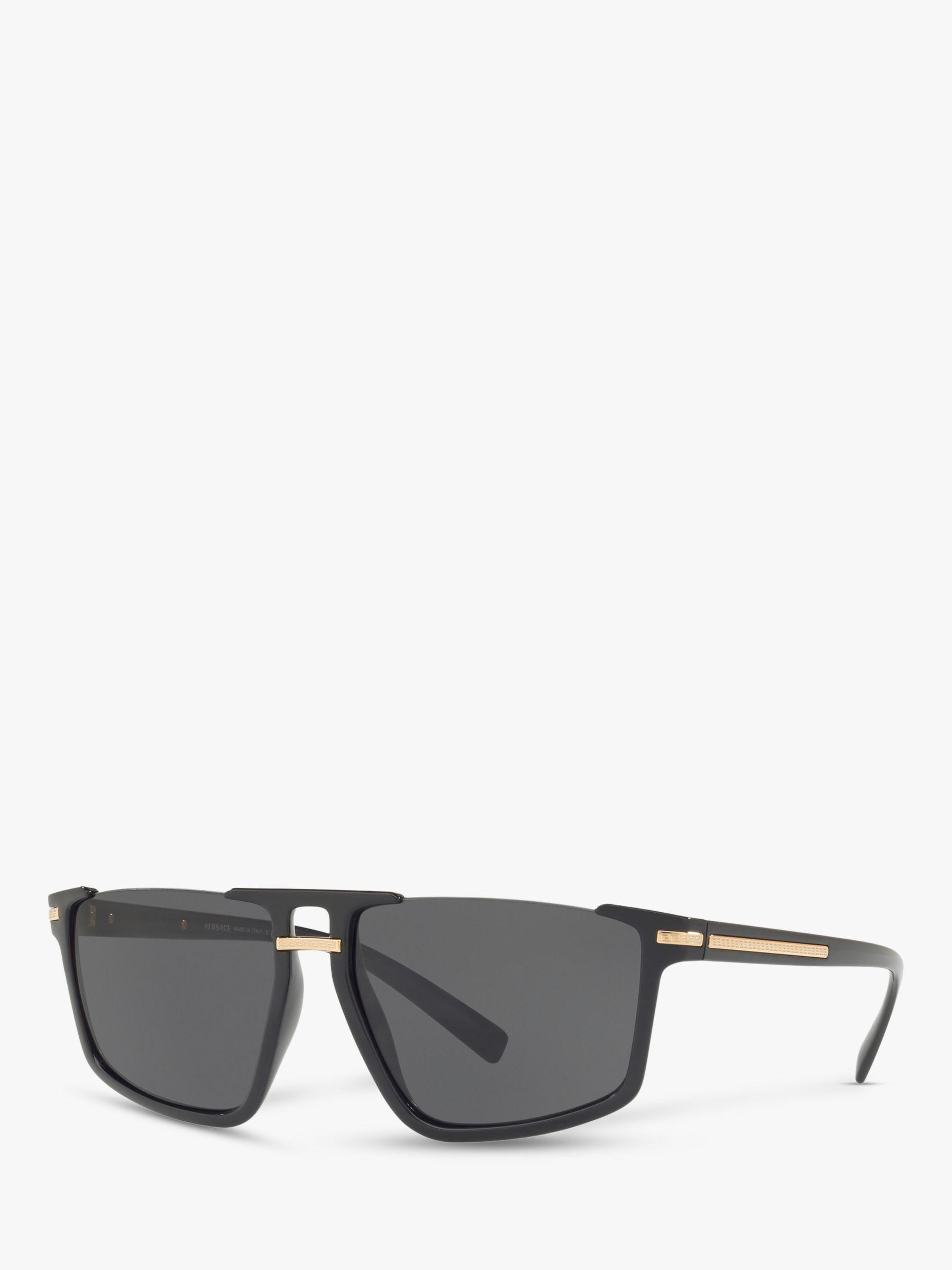 efd6d28437fa Versace Ve4363 Men s Rectangular Sunglasses in Black for Men - Lyst