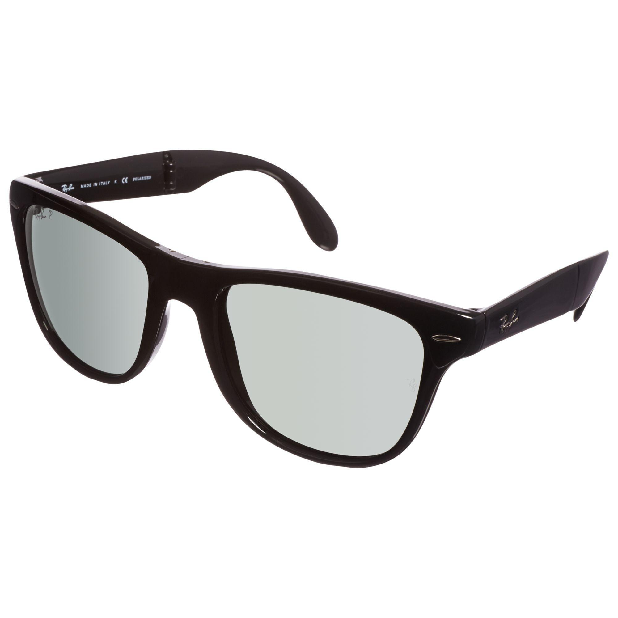 6fb4de444e Ray-Ban Rb4105 Polarised Folding Wayfarer Sunglasses in Black - Lyst