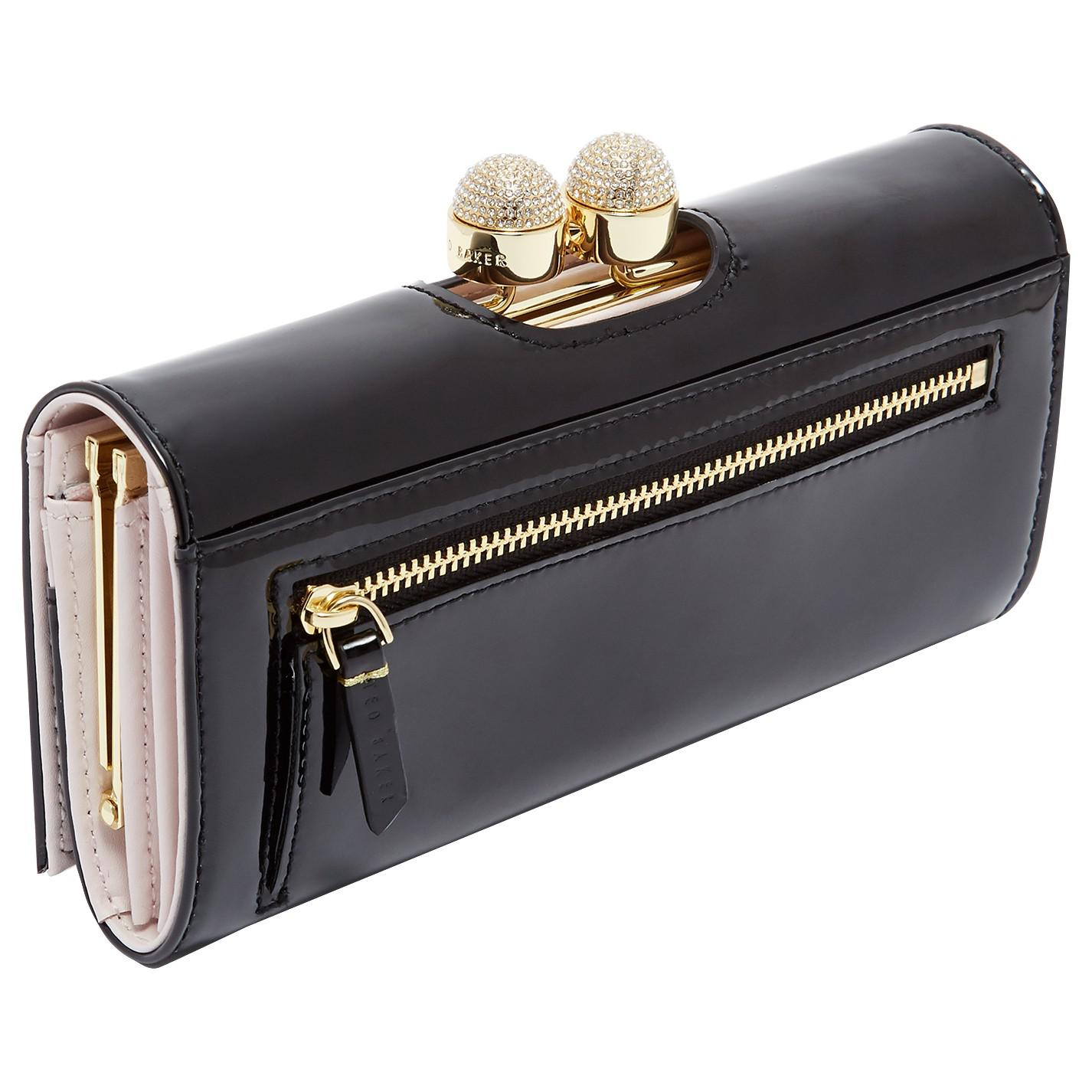 c598794a187 Ted Baker Shirly Leather Patent Bobble Matinee Purse in Black - Lyst