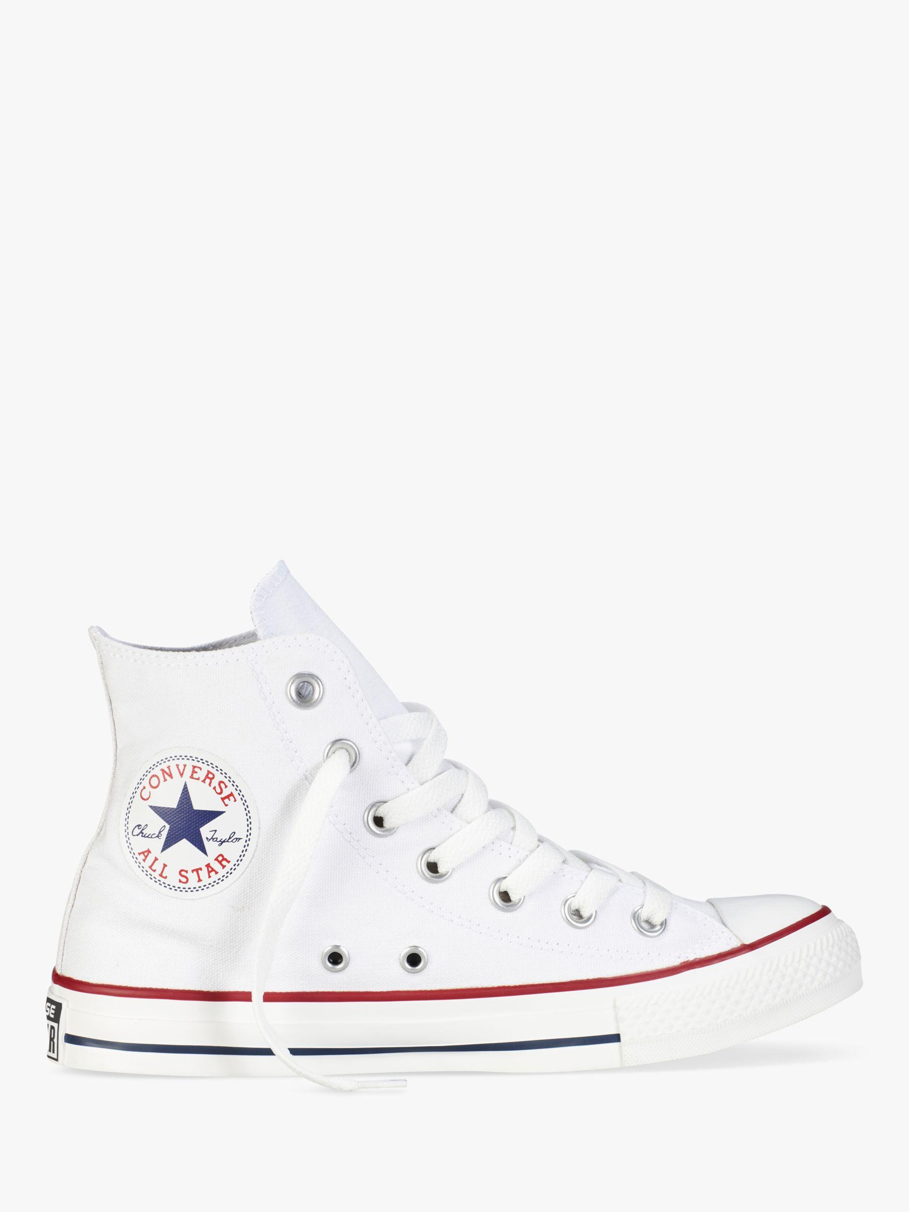 70d07753c86125 Converse Chuck Taylor All Star Canvas High-top Trainers in White - Lyst
