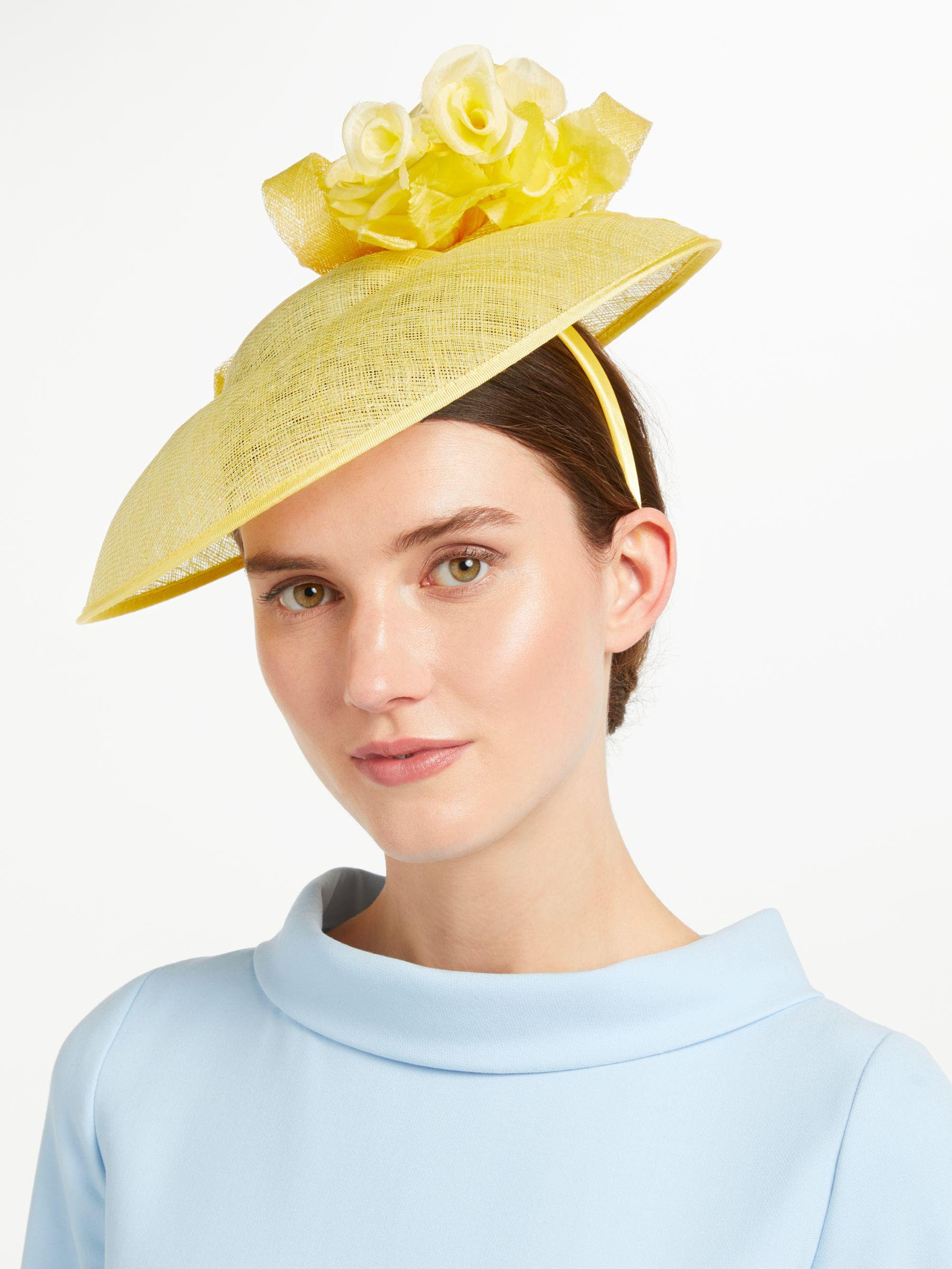 65492c1f John Lewis Ruth Rose Crown Disc Occasion Hat in Yellow - Lyst