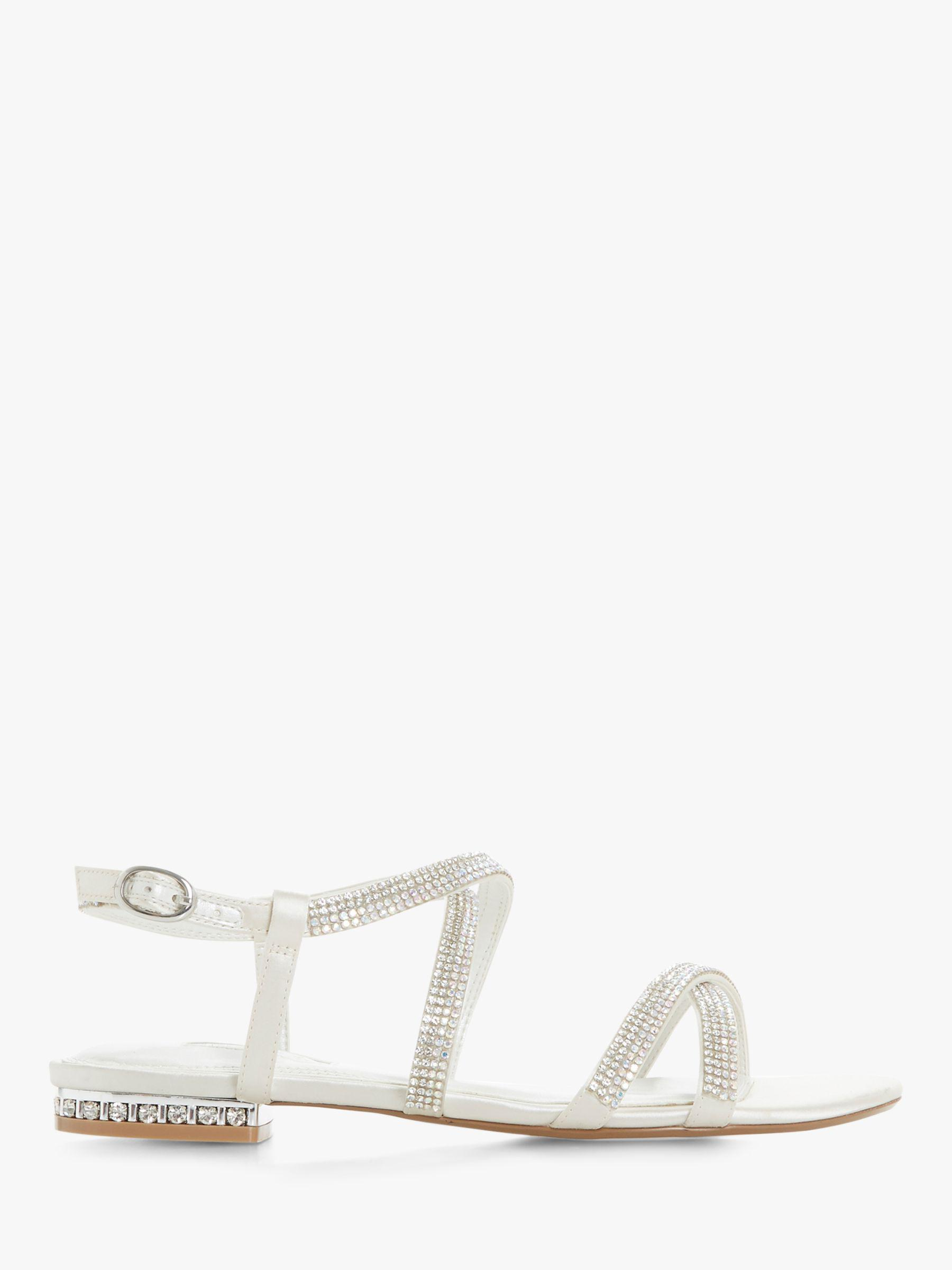 2510f0e589958f Dune Bridal Collection Nicest Diamante Strap Sandals in White - Lyst