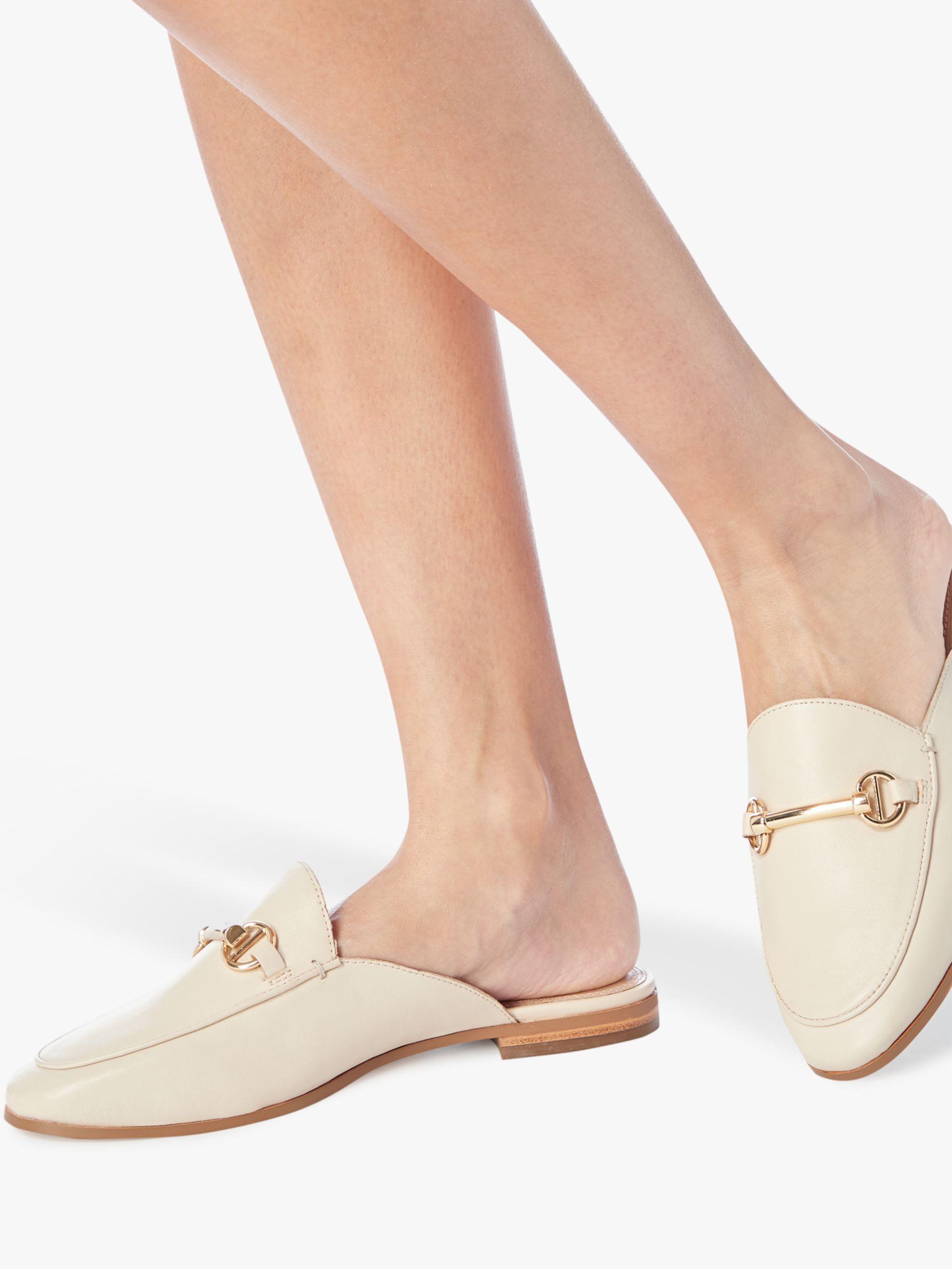 391564cedd5 Dune Geenee Slip On Mule Loafers in White - Lyst