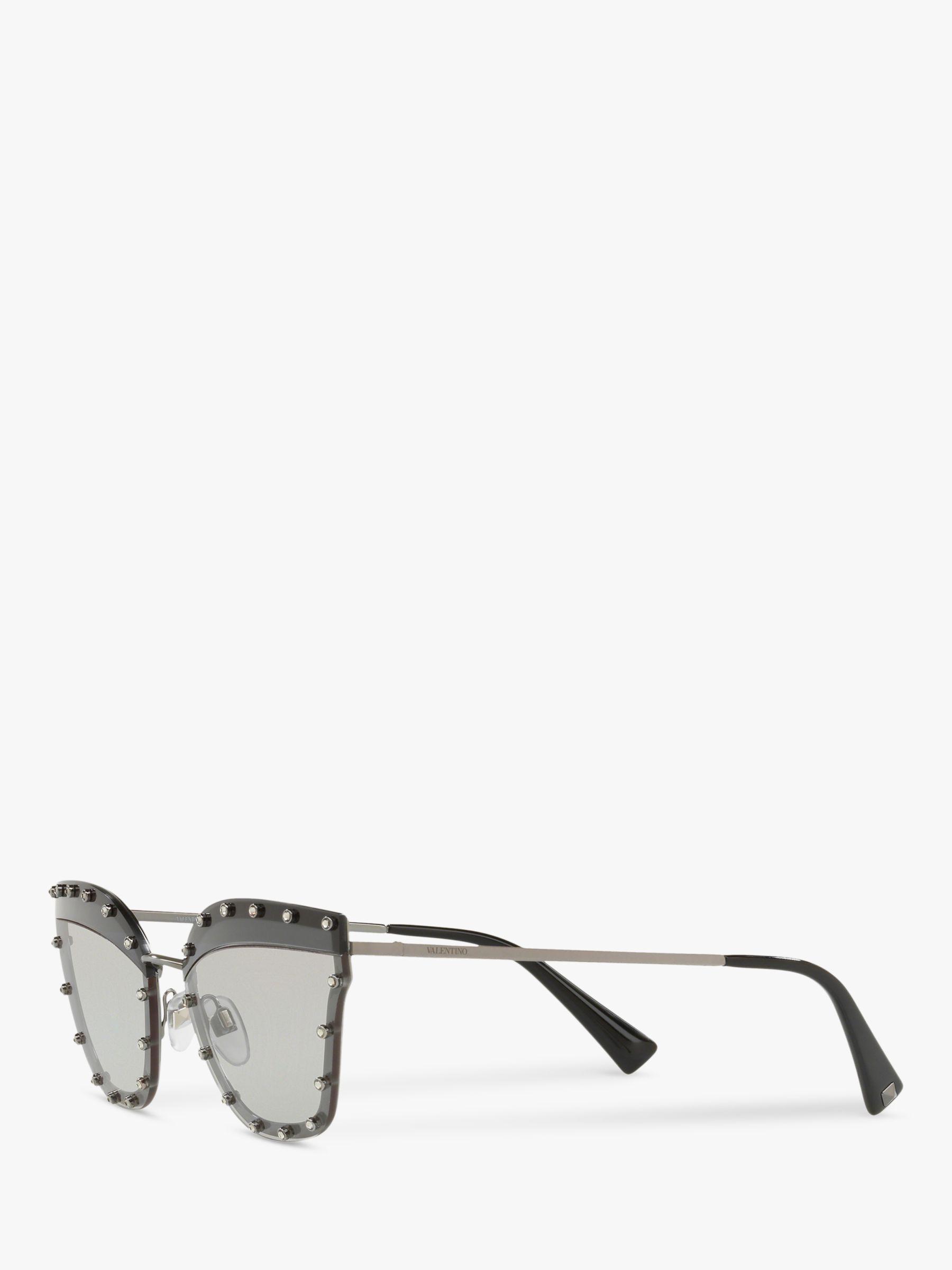 719a821fb81fd Valentino Va2028 Women s Cat s Eye Sunglasses in Gray - Lyst