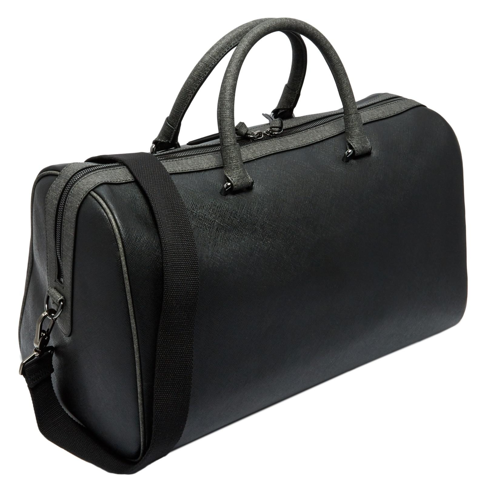 b987e53a23731b Ted Baker Claws Cross-grain Holdall in Black for Men - Lyst
