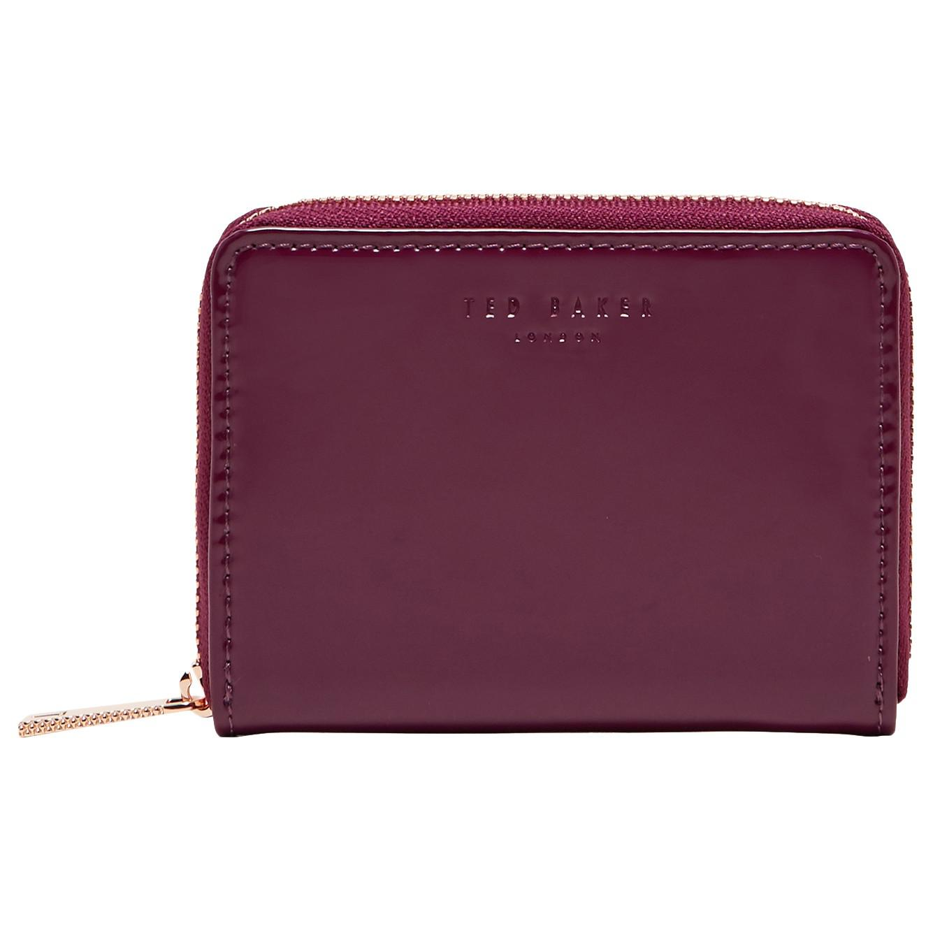 04633f9f0641 Ted Baker Omarion Leather Mini Purse in Purple - Lyst