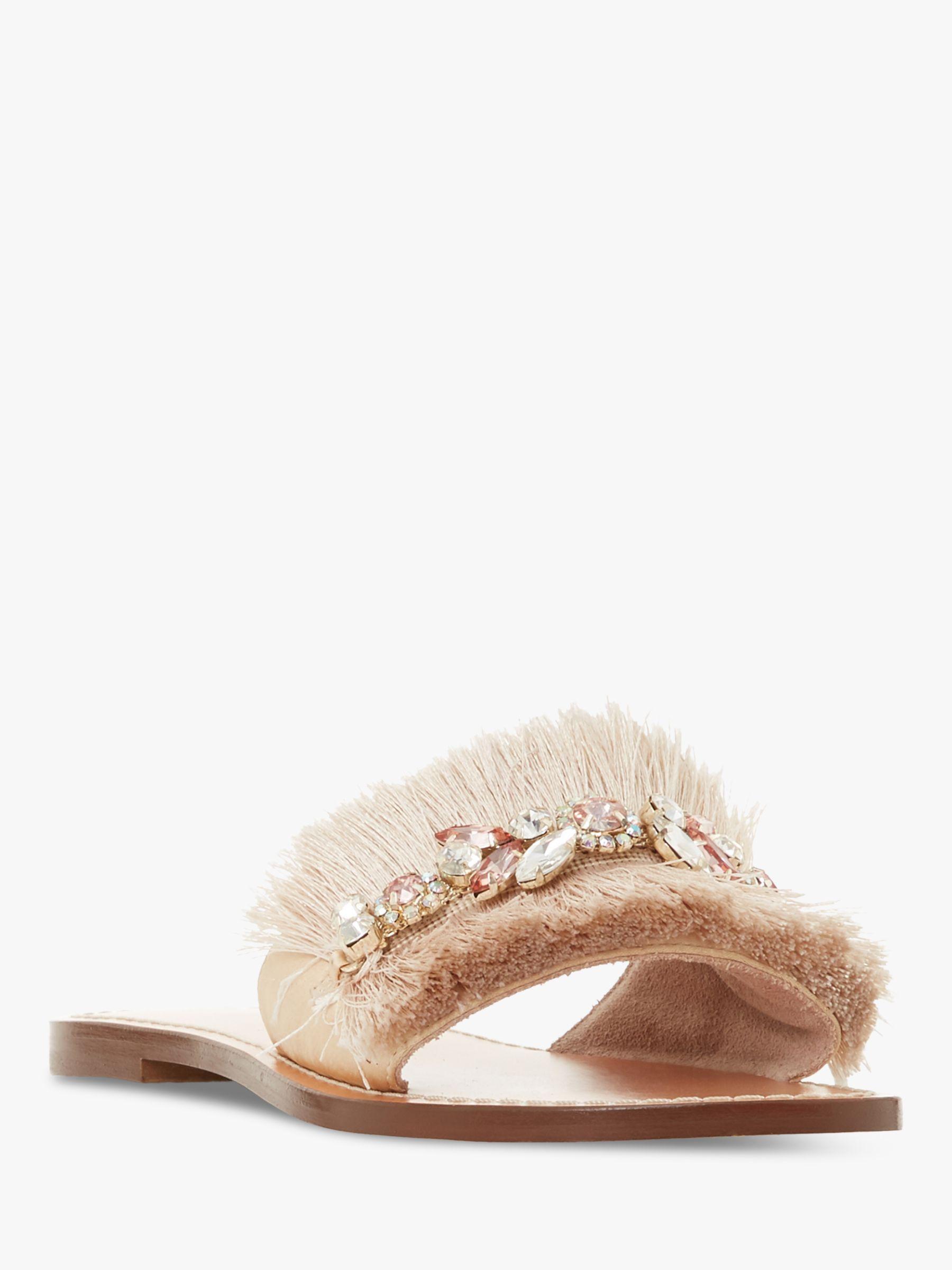 2860e4e840b3 Dune. Women s Natural Lostsprings Fringe Detail Slider Sandals. £85 From John  Lewis and Partners