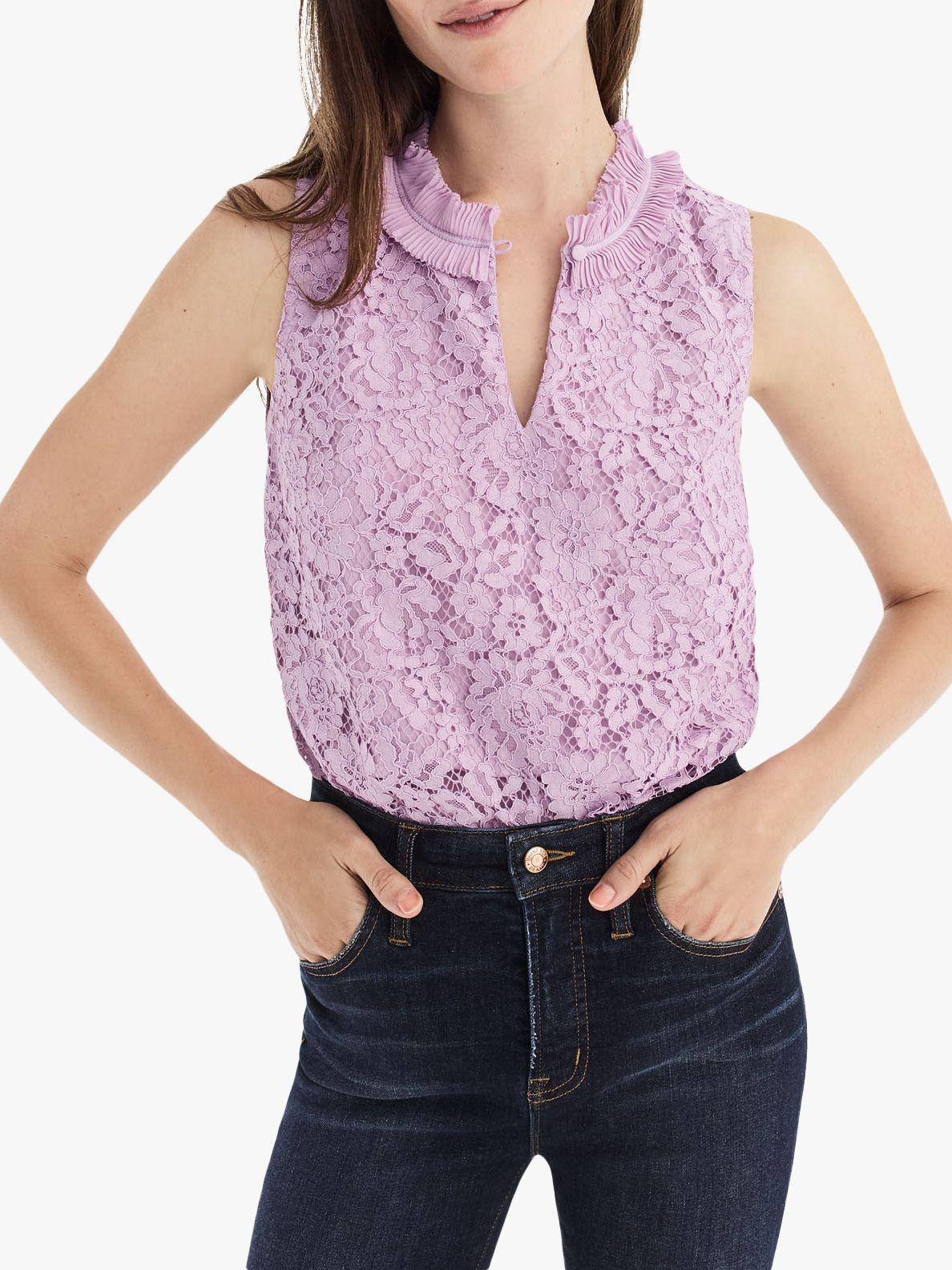 b6fcacaf985421 J.Crew Melody Unicorn Lace Top in Purple - Lyst