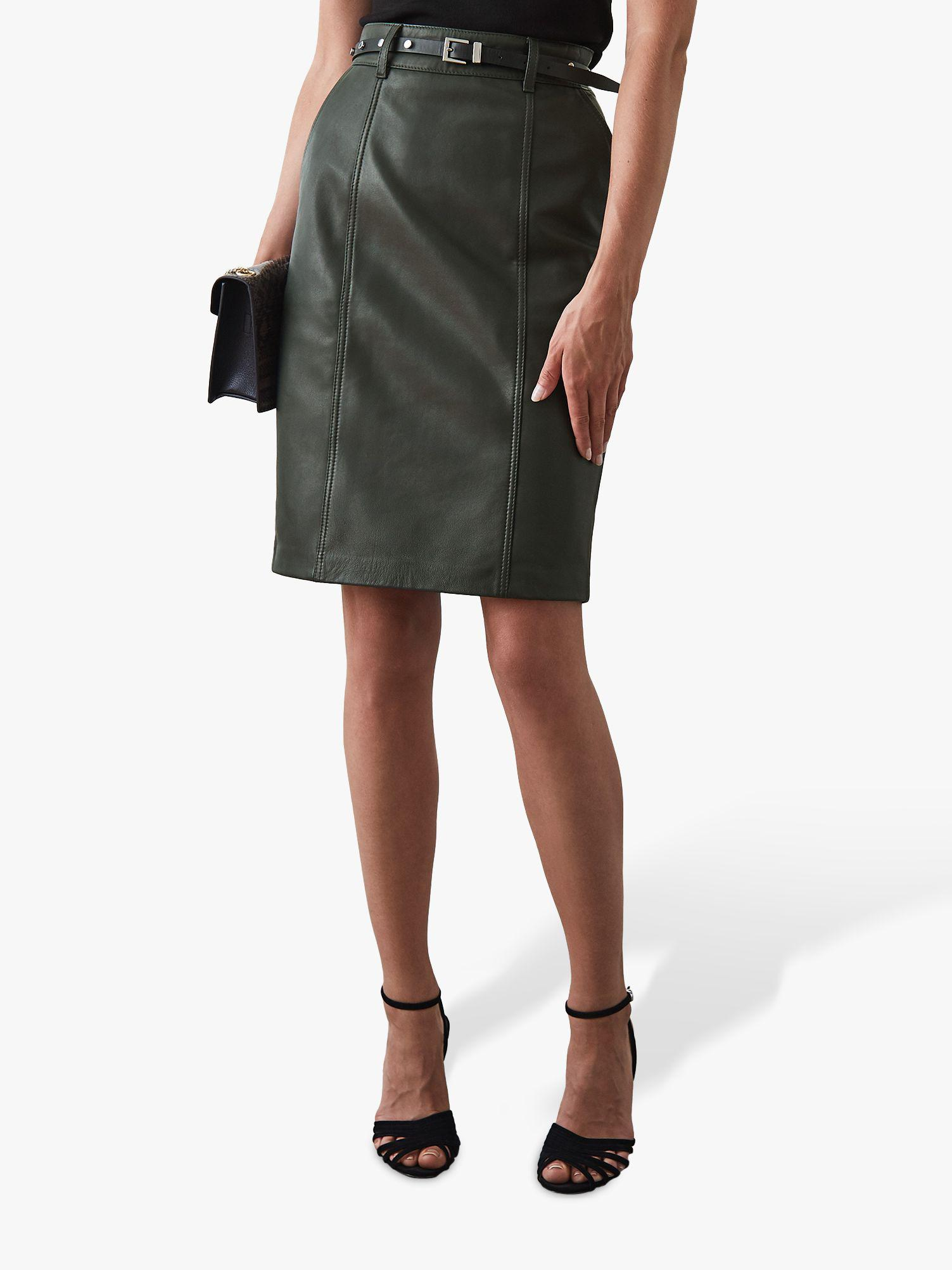 6b82cf8bfb Reiss. Women's Kara Leather Pencil Skirt