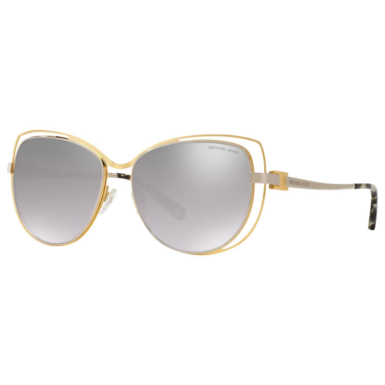 5de90fef973 Michael Kors Mk1013 Audrina I Cat s Eye Sunglasses in Metallic - Lyst