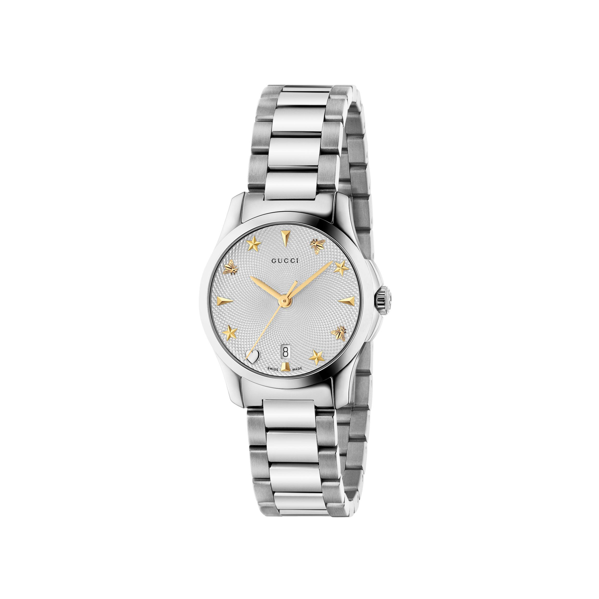 9b70f5c4c94 Gucci - Metallic Ya126572 Women s G-timeless Date Bracelet Strap Watch -  Lyst. View fullscreen