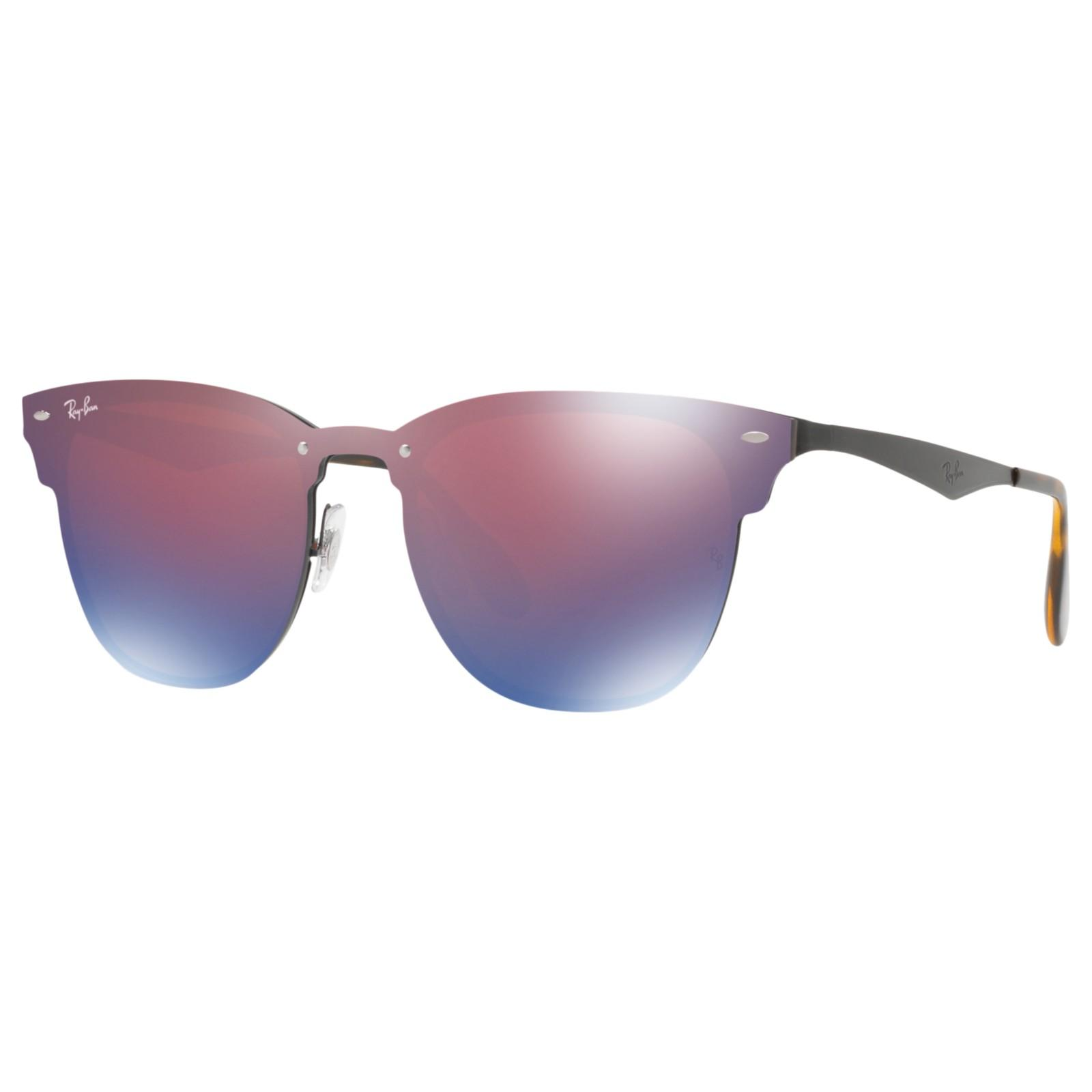 53a933bbb7 Ray-Ban Rb3576n Blaze Clubmaster Square Sunglasses in Purple - Lyst