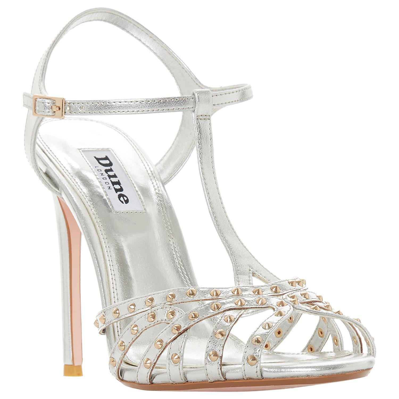 183c002558d3 Dune Mavericke Stiletto Heel Studded Sandals in Metallic - Lyst
