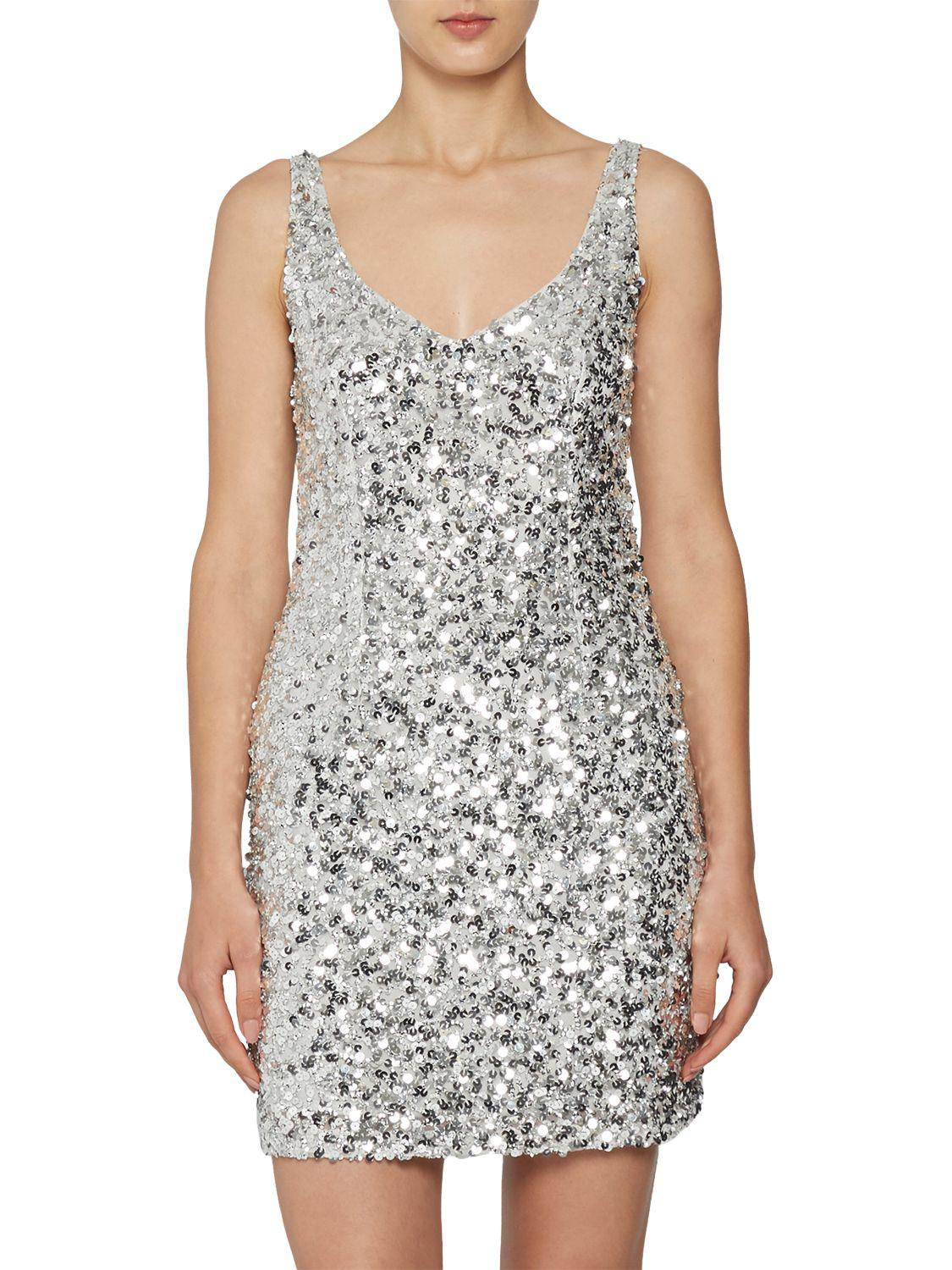 50124e3ed3ef French Connection Helen Sparkle Strappy Dress - Lyst