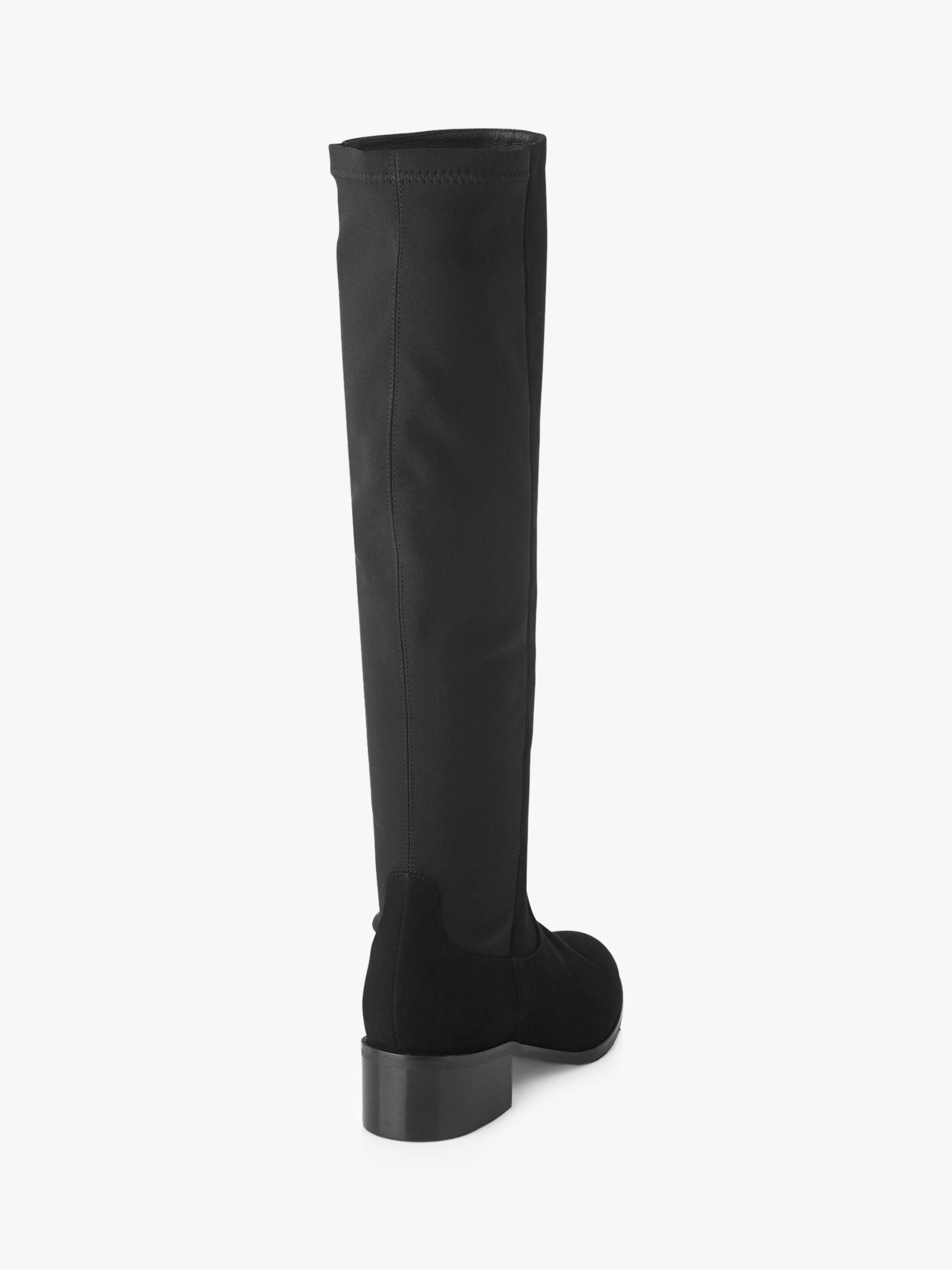 d0dea435657 L.K.Bennett Bella Knee High Sock Boots in Black - Lyst