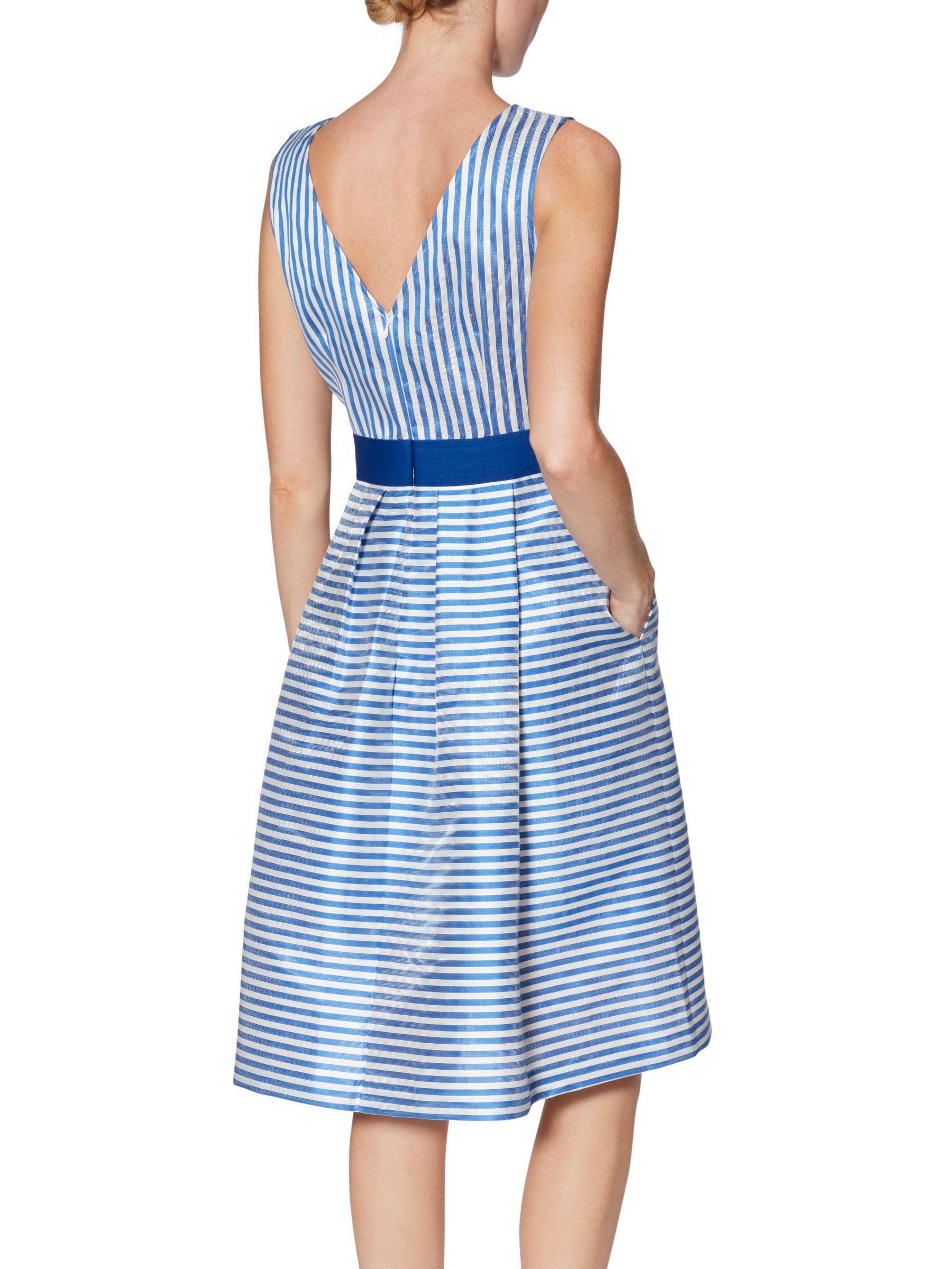 Lyst - John Lewis Gina Bacconi Elena Stripe Dress in Blue