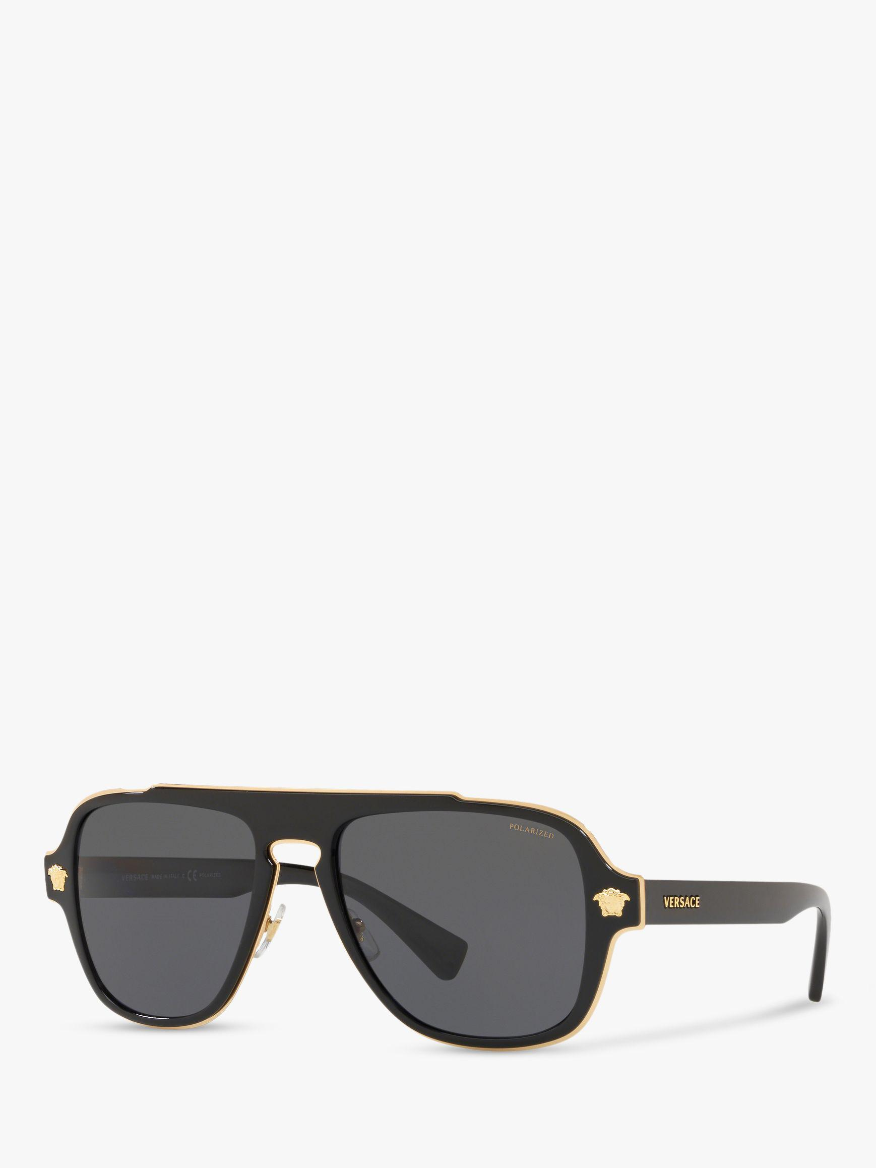 9d20e6592063 Versace - Black Ve2199 Men s Polarised Geometric Sunglasses for Men - Lyst.  View fullscreen