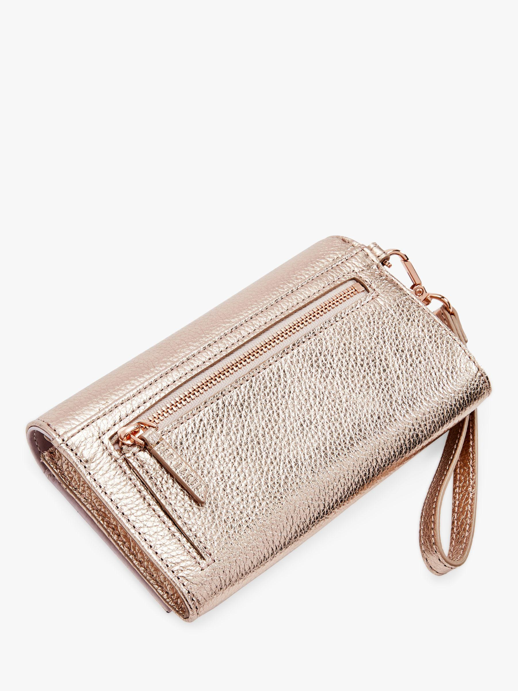 40cb2ed6f2163 Ted Baker Holli Leather Wristlet Purse in Pink - Lyst